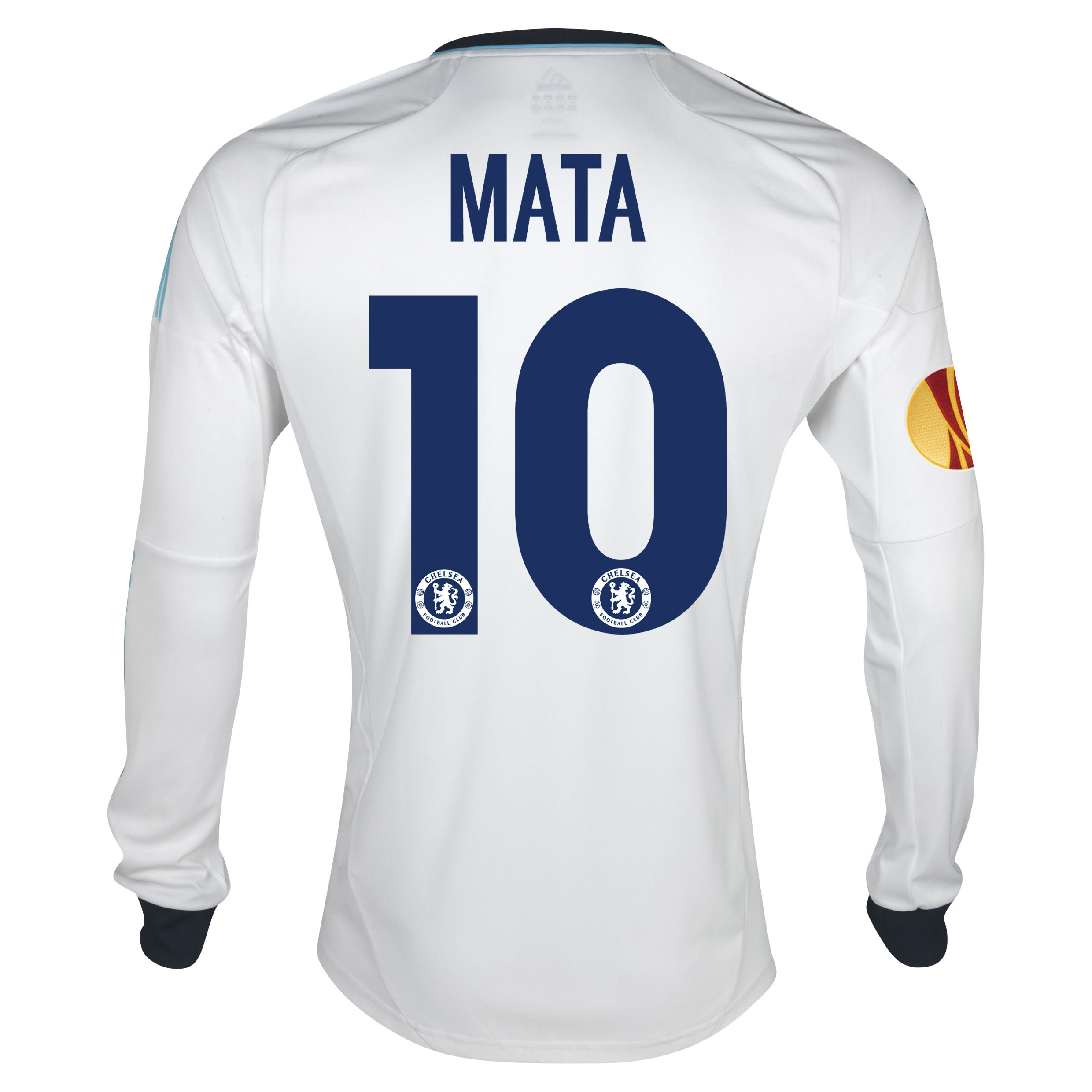 Chelsea UEFA Europa League Away Shirt 2012/13 - Long Sleeved with Mata 10 printing Including Europa Badge