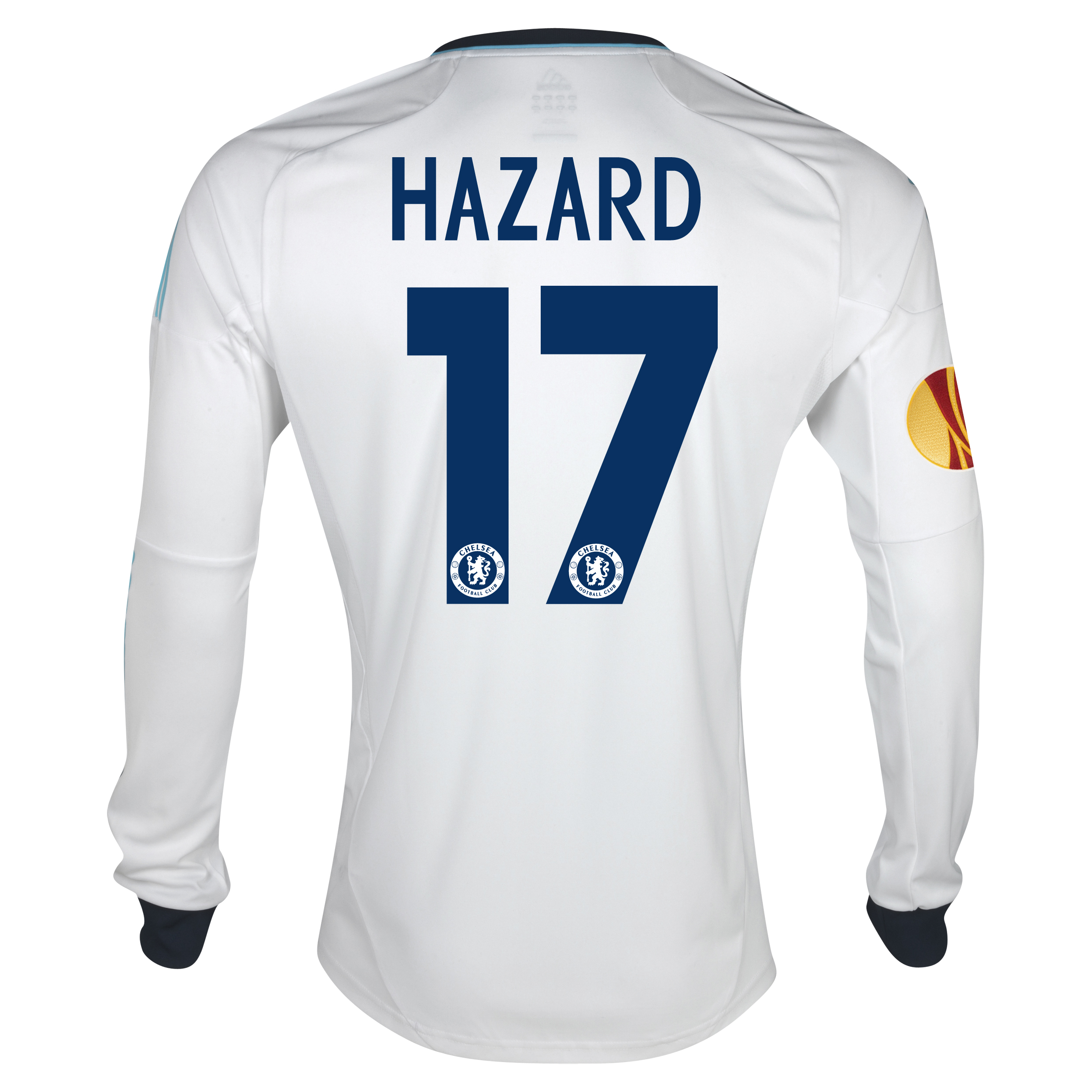 Chelsea UEFA Europa League Away Shirt 2012/13 - Long Sleeved with Hazard 17 printing Including Europa Badge