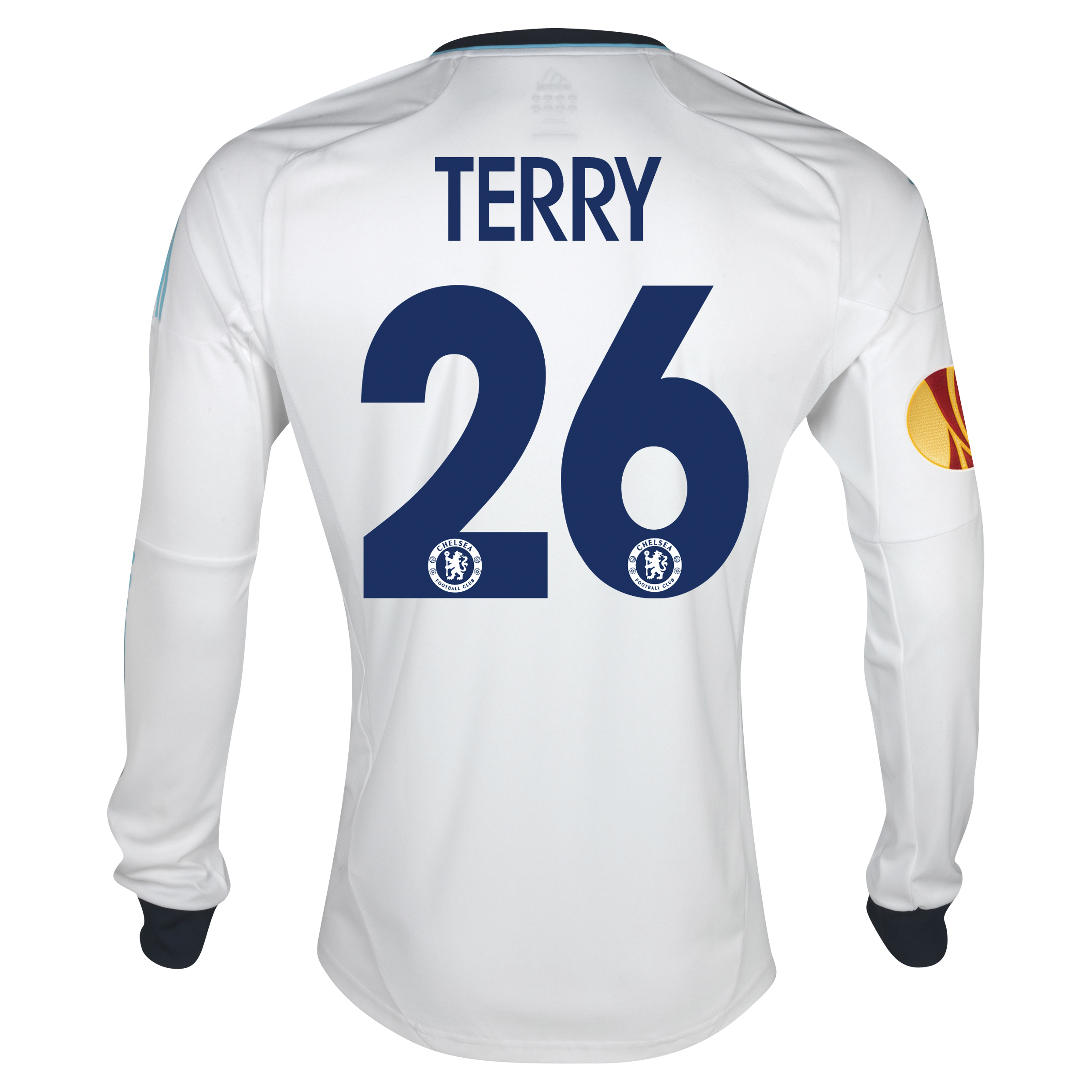 Chelsea UEFA Europa League Away Shirt 2012/13 - Long Sleeved with Terry 26 printing Including Europa Badge
