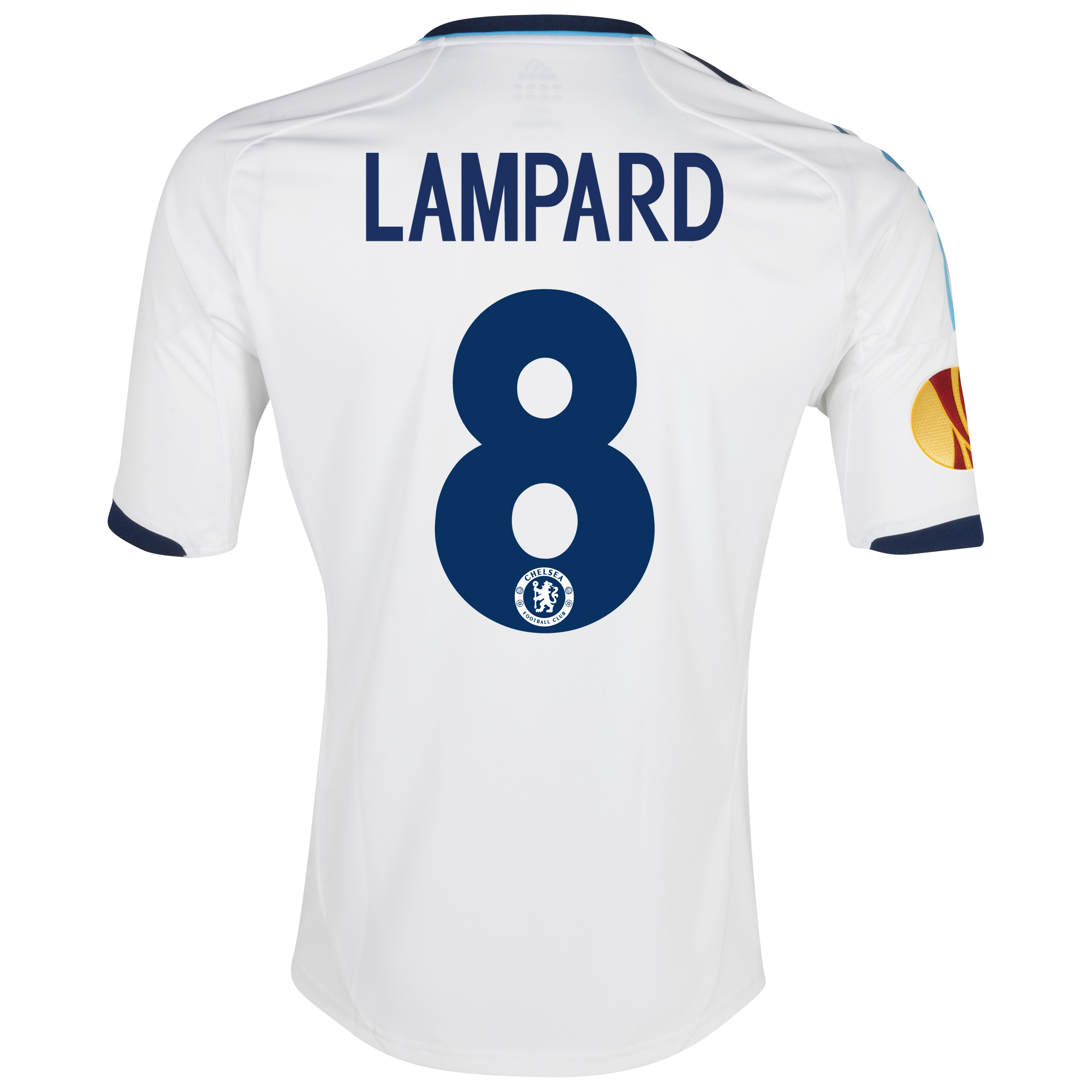Chelsea UEFA Europa League Away Shirt 2012/13 - Kids with Lampard 8 printing Including Europa Badge