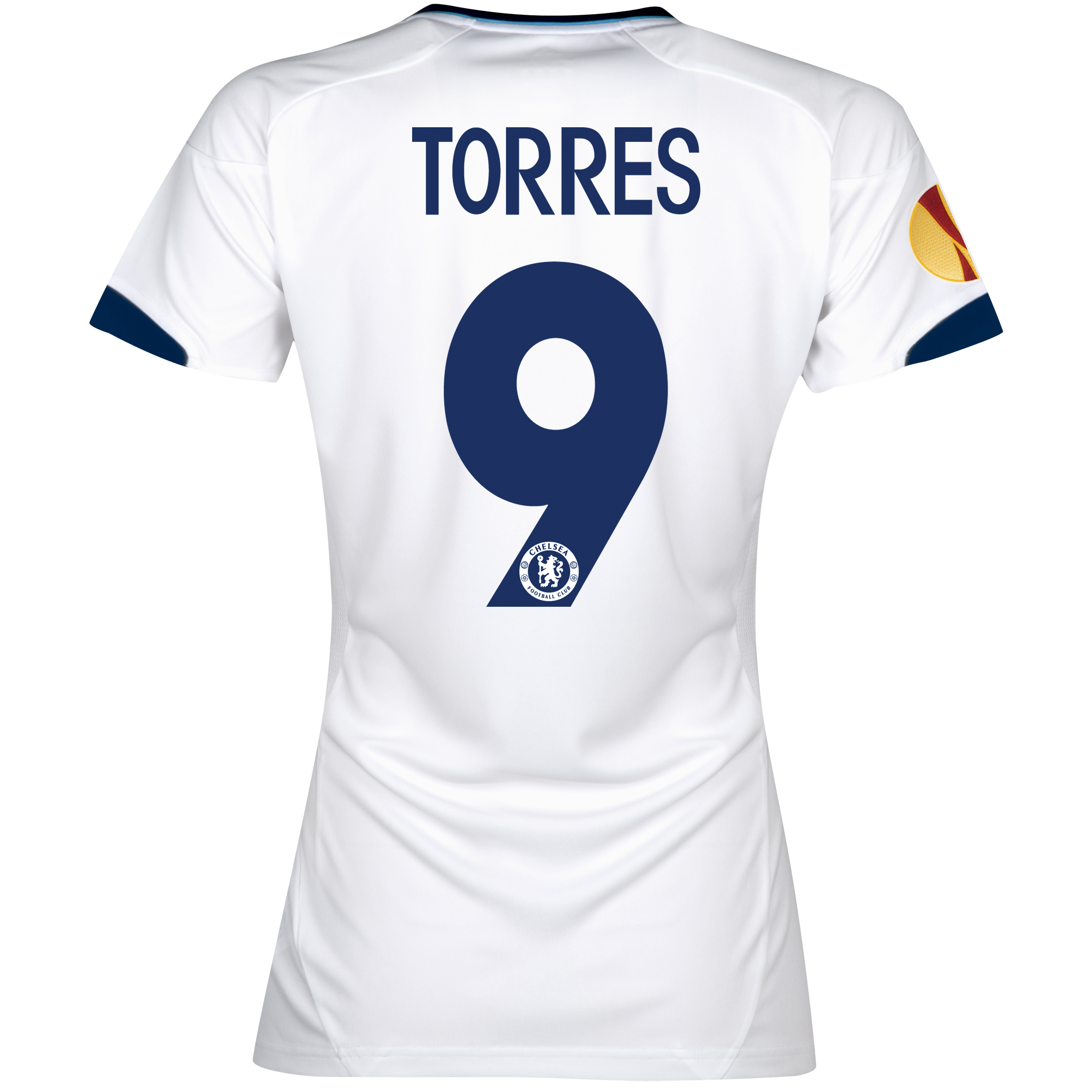 Chelsea UEFA Europa League Away Shirt 2012/13 - Womens with Torres 9 printing Including Europa Badge