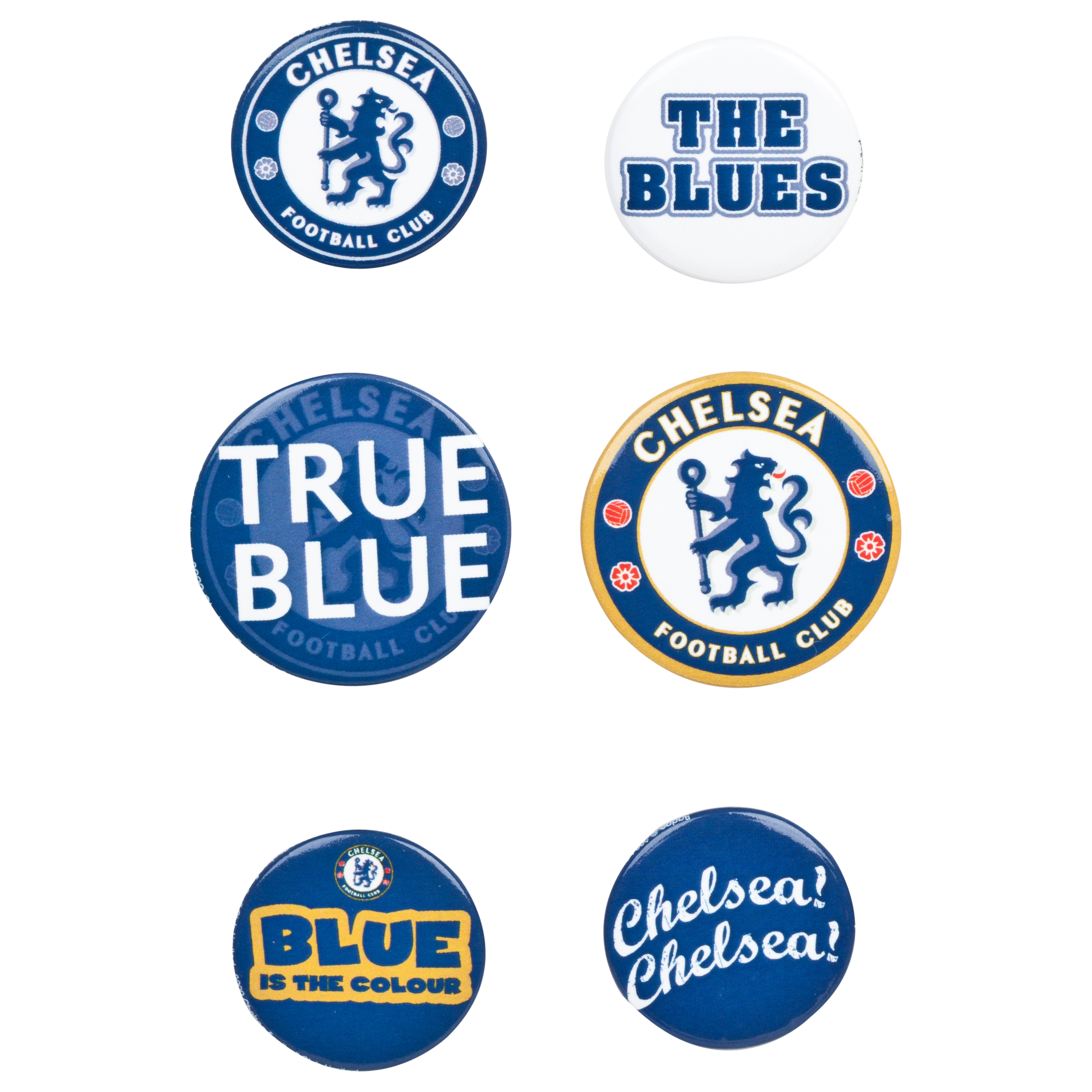 Chelsea Badge Set - 6 Pack