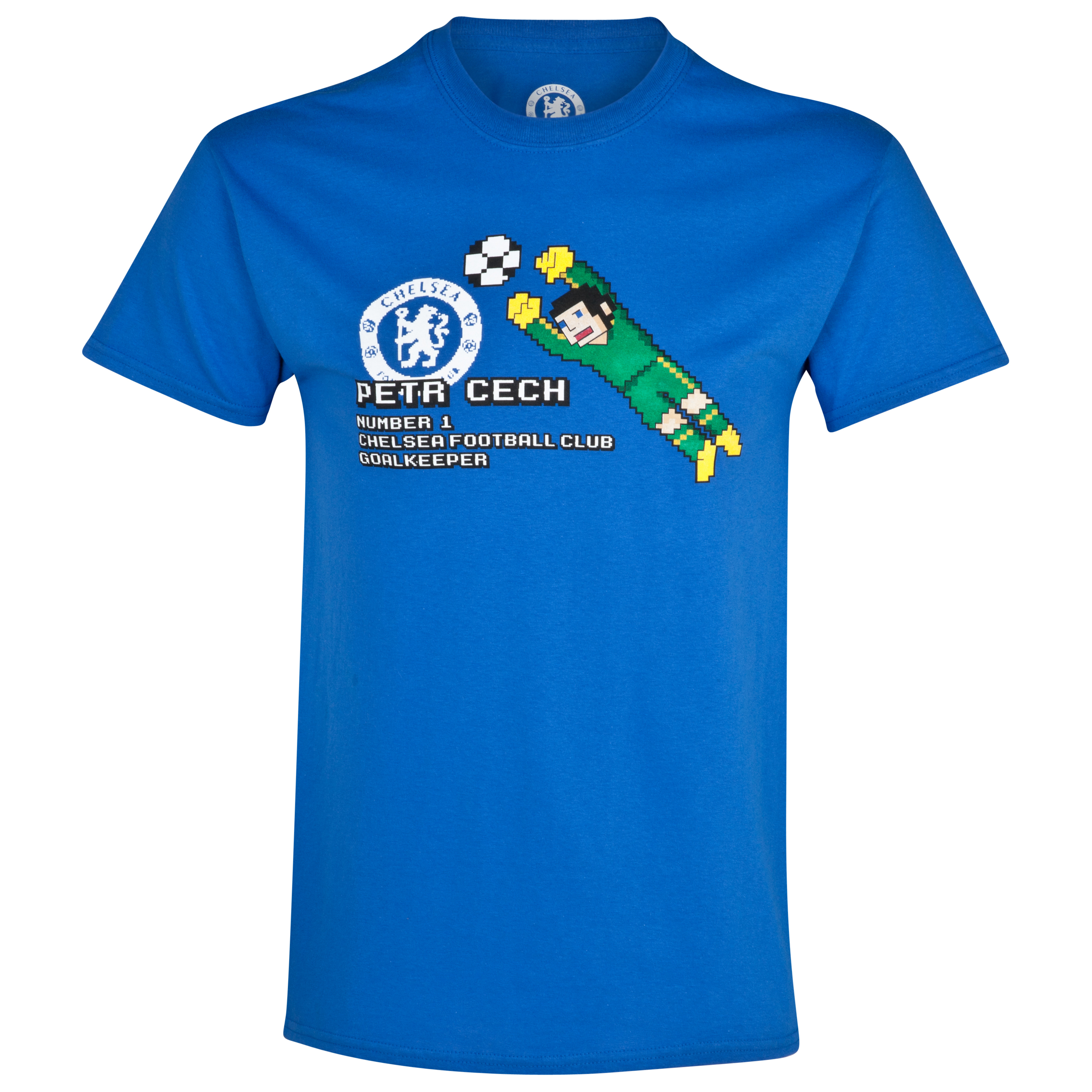 Chelsea Petr Cech Pixel T-Shirt - Royal - Mens