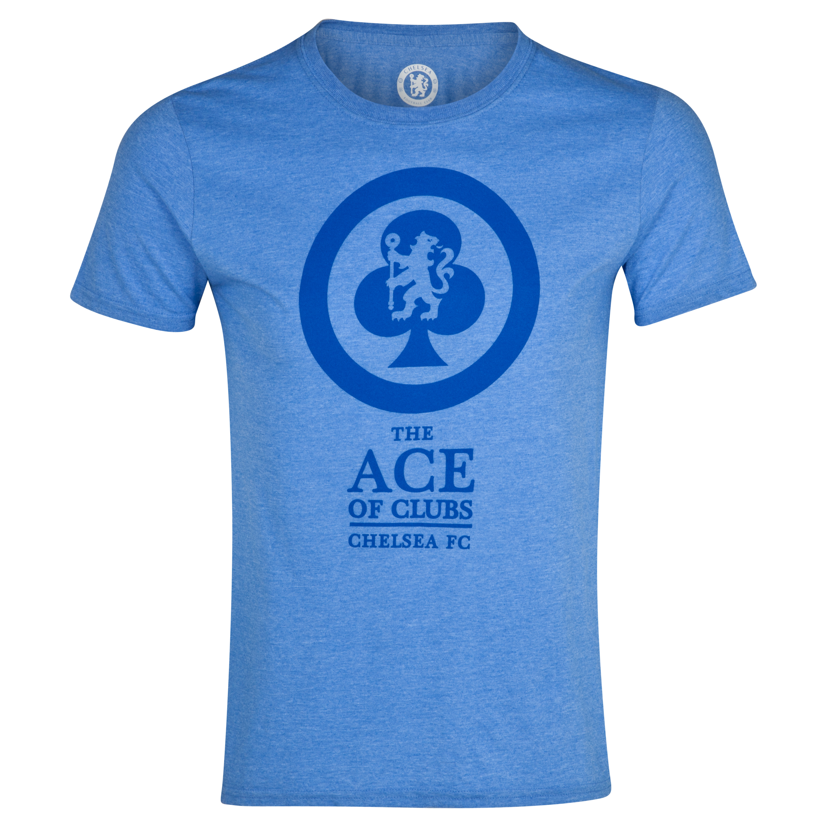 Chelsea Ace of Clubs T-Shirt - Heather Royal - Mens