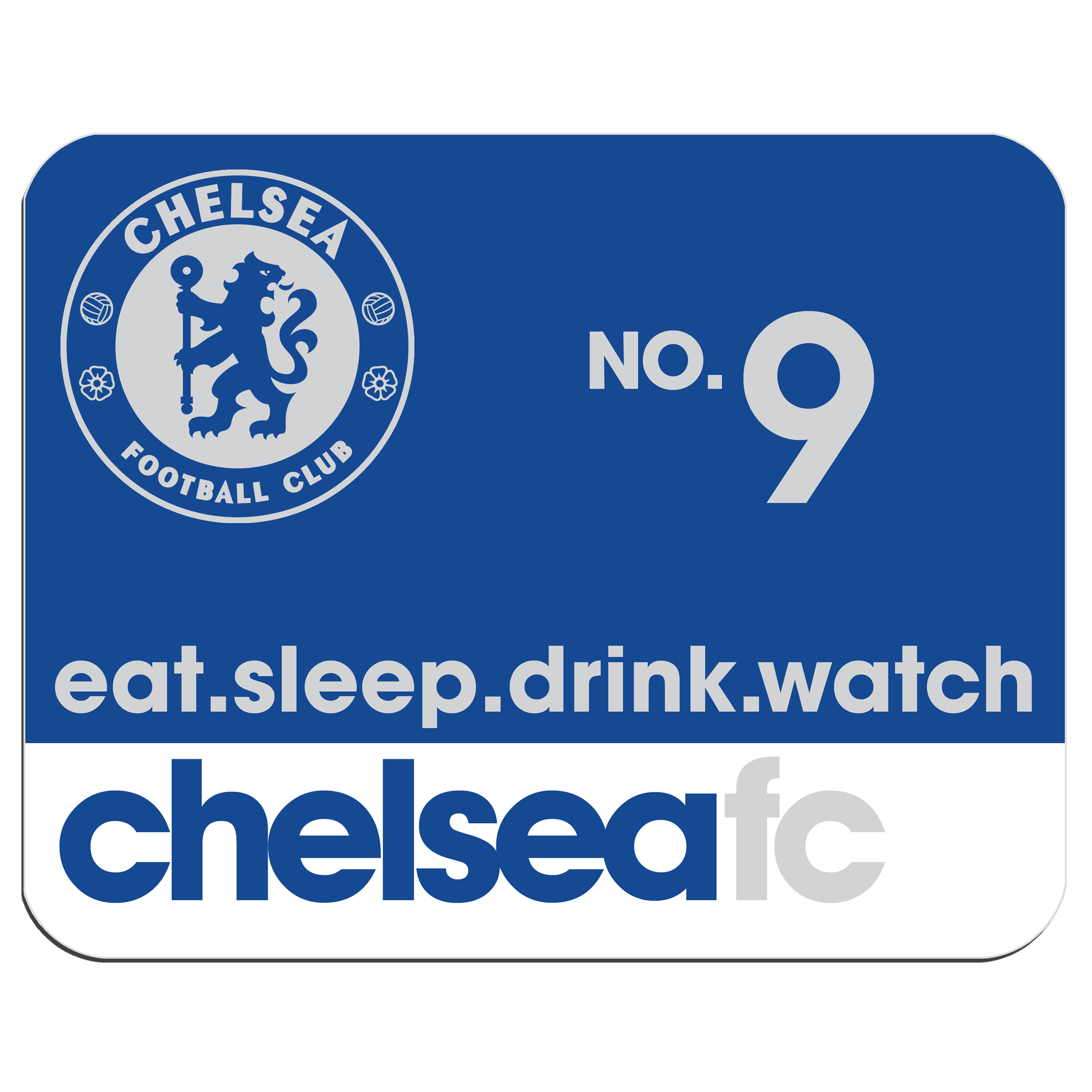 Chelsea Personalised Eat Sleep Drink Watch Chelsea Mouse Mat