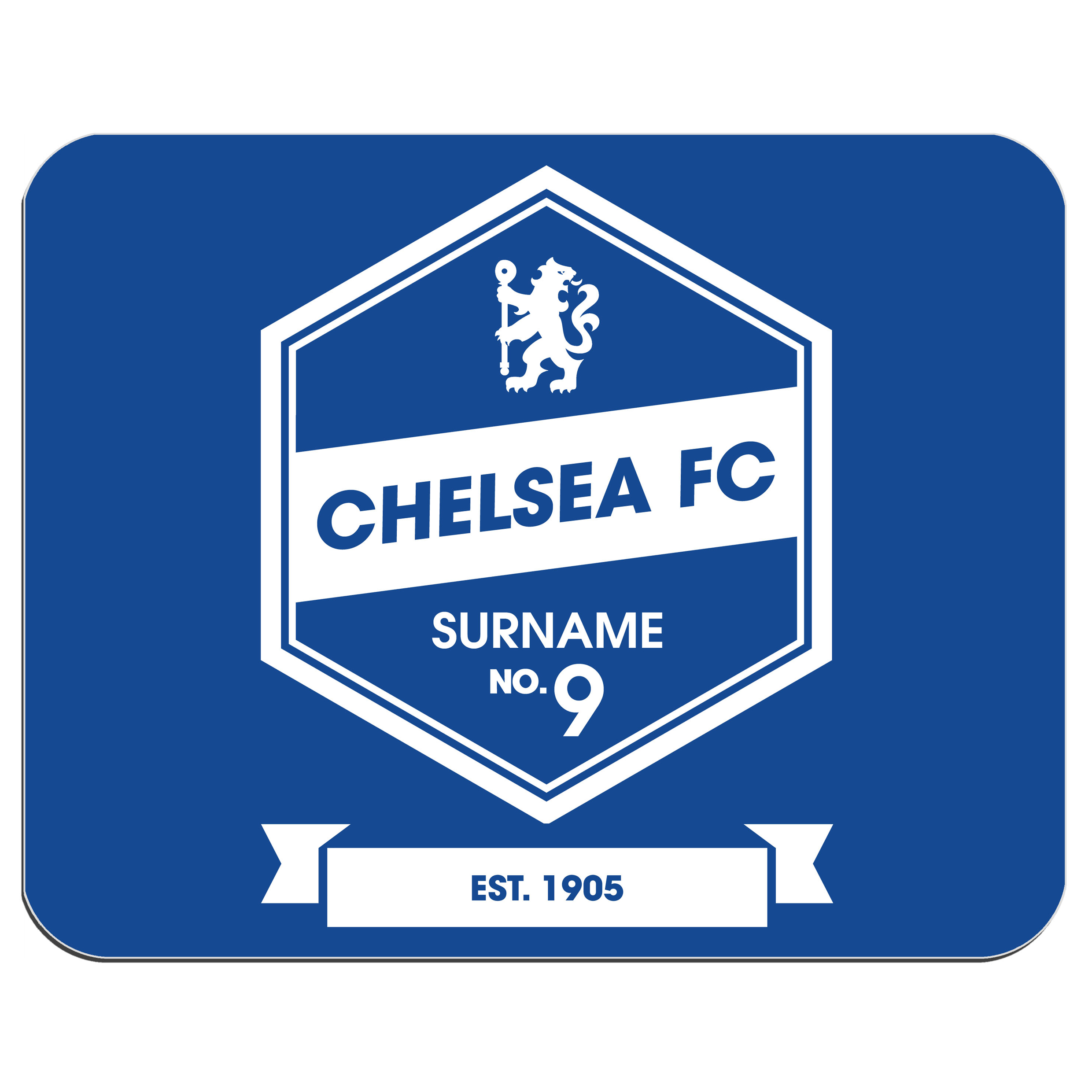 Chelsea Personalised Retro Mouse Mat