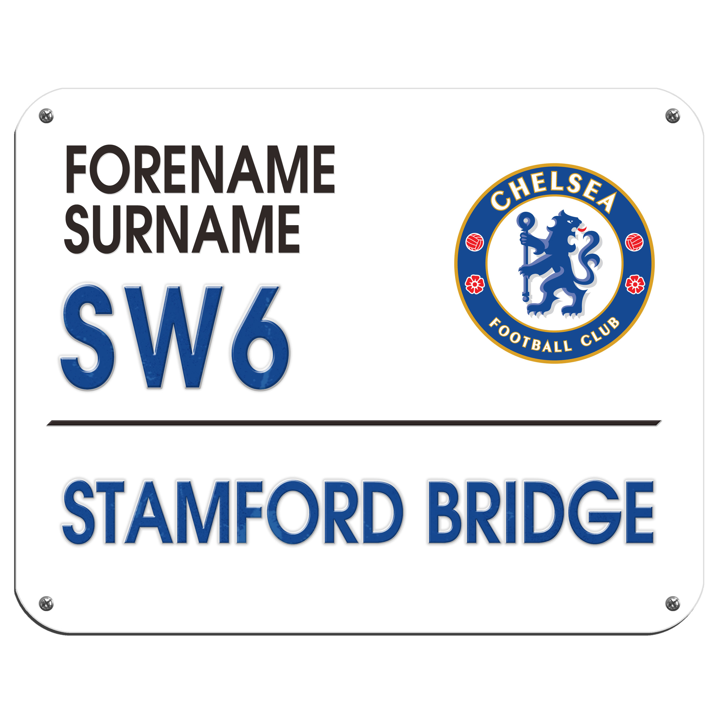 Chelsea Personalised Street Sign Mouse Mat
