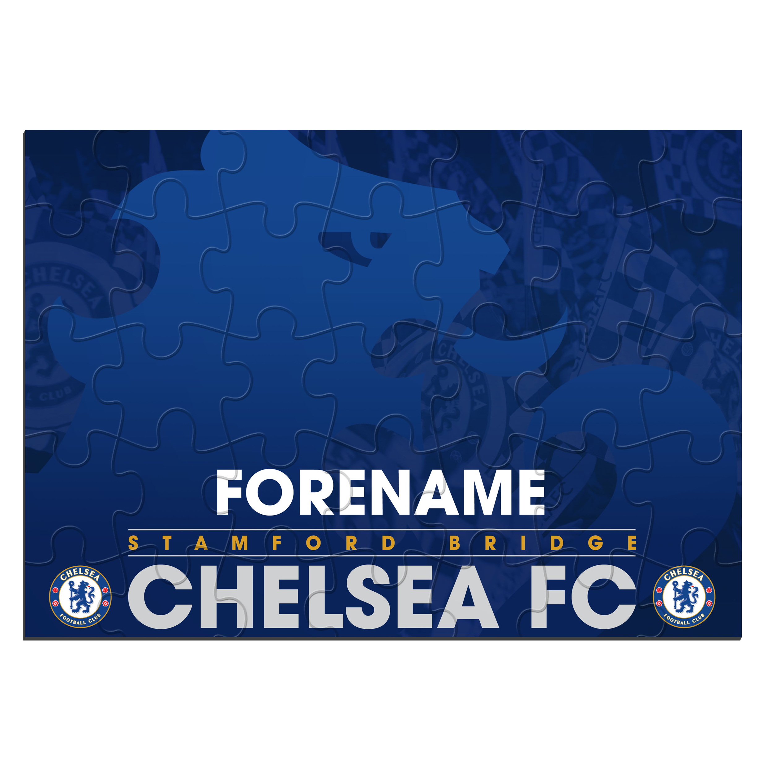 Chelsea Personalised Crest Jigsaw