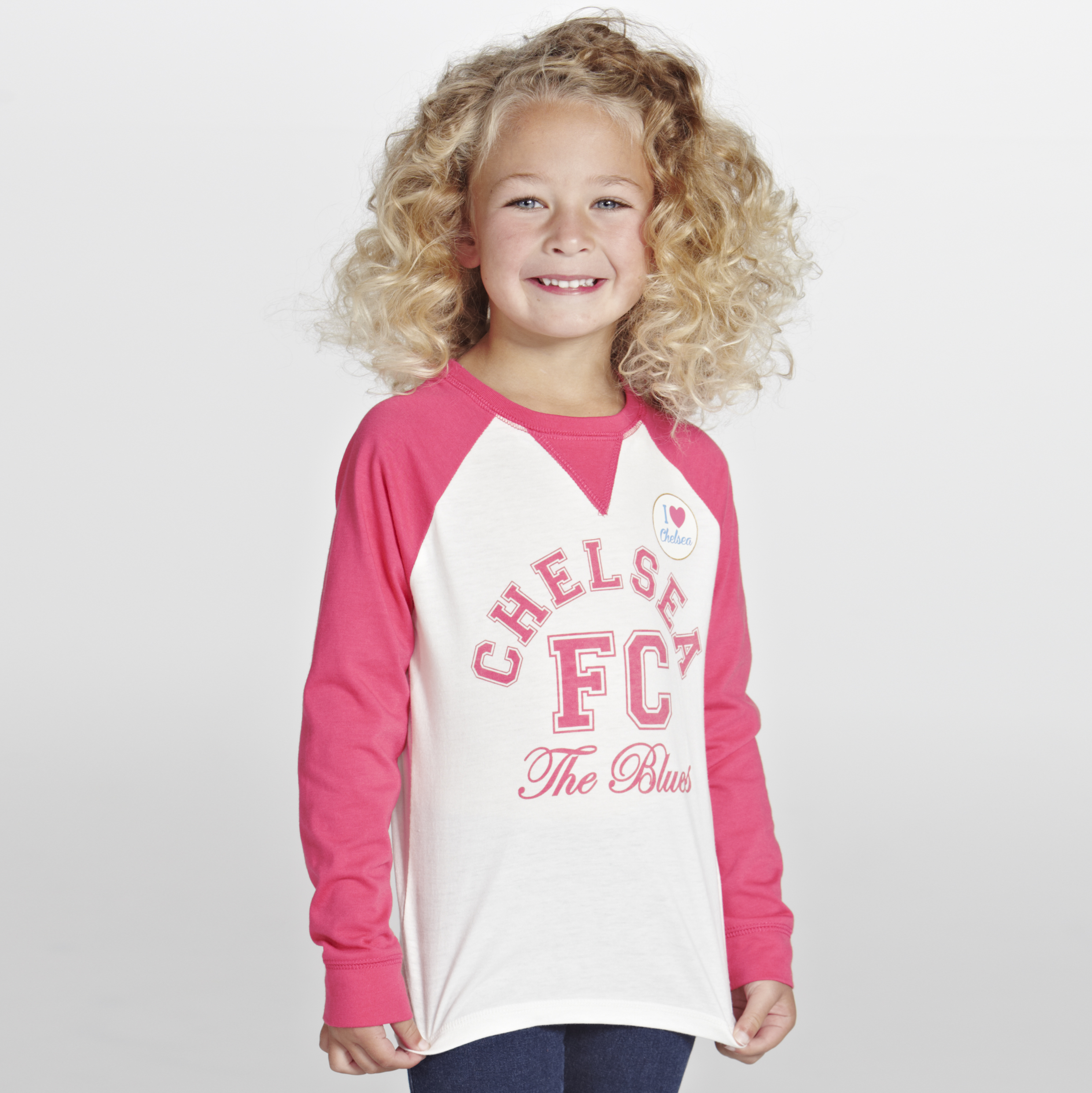 Chelsea Raglan Long Sleeve Graphic T-Shirt  - Infant Girls Beige