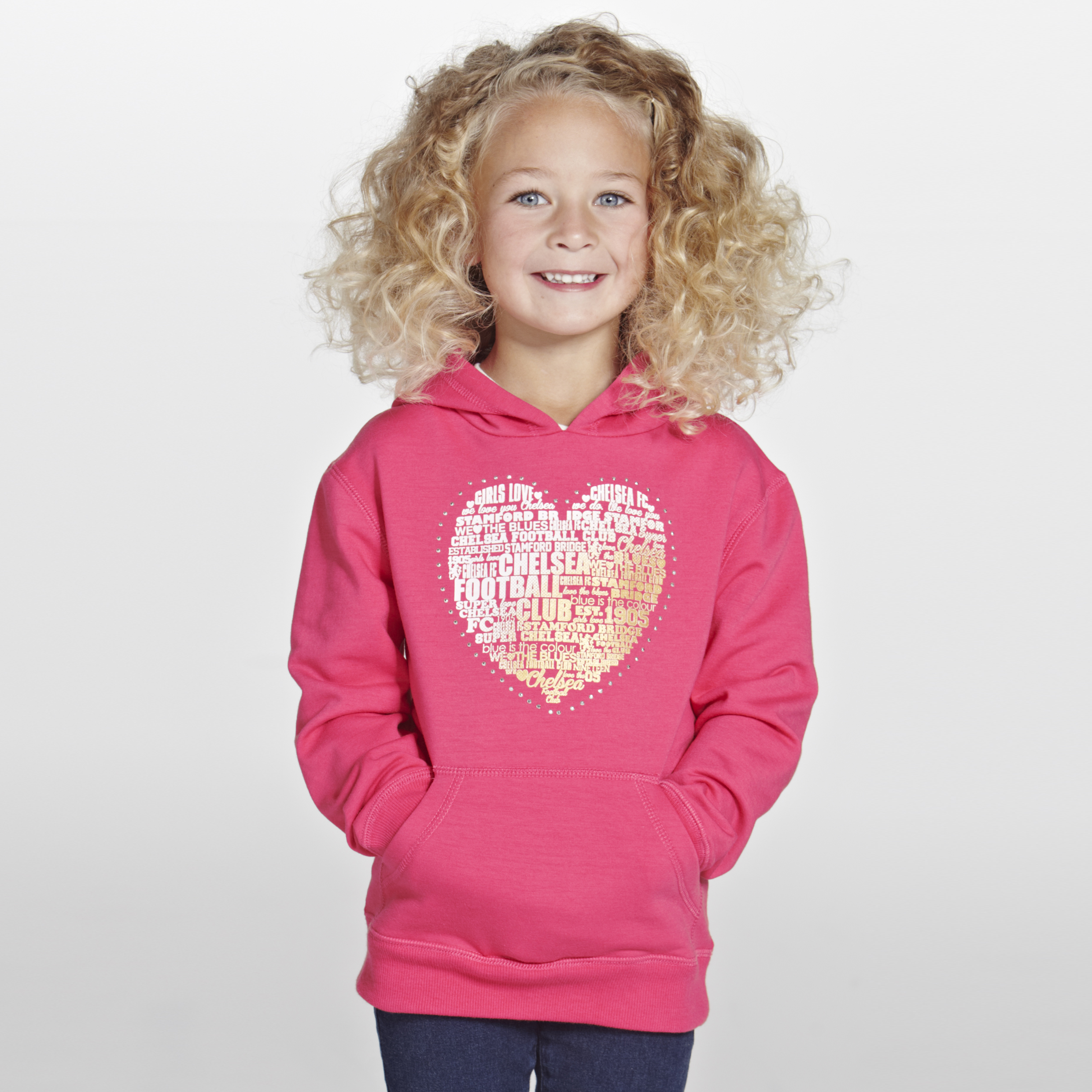 Chelsea Heart Hoodie T-Shirt - Infant Girls Pink