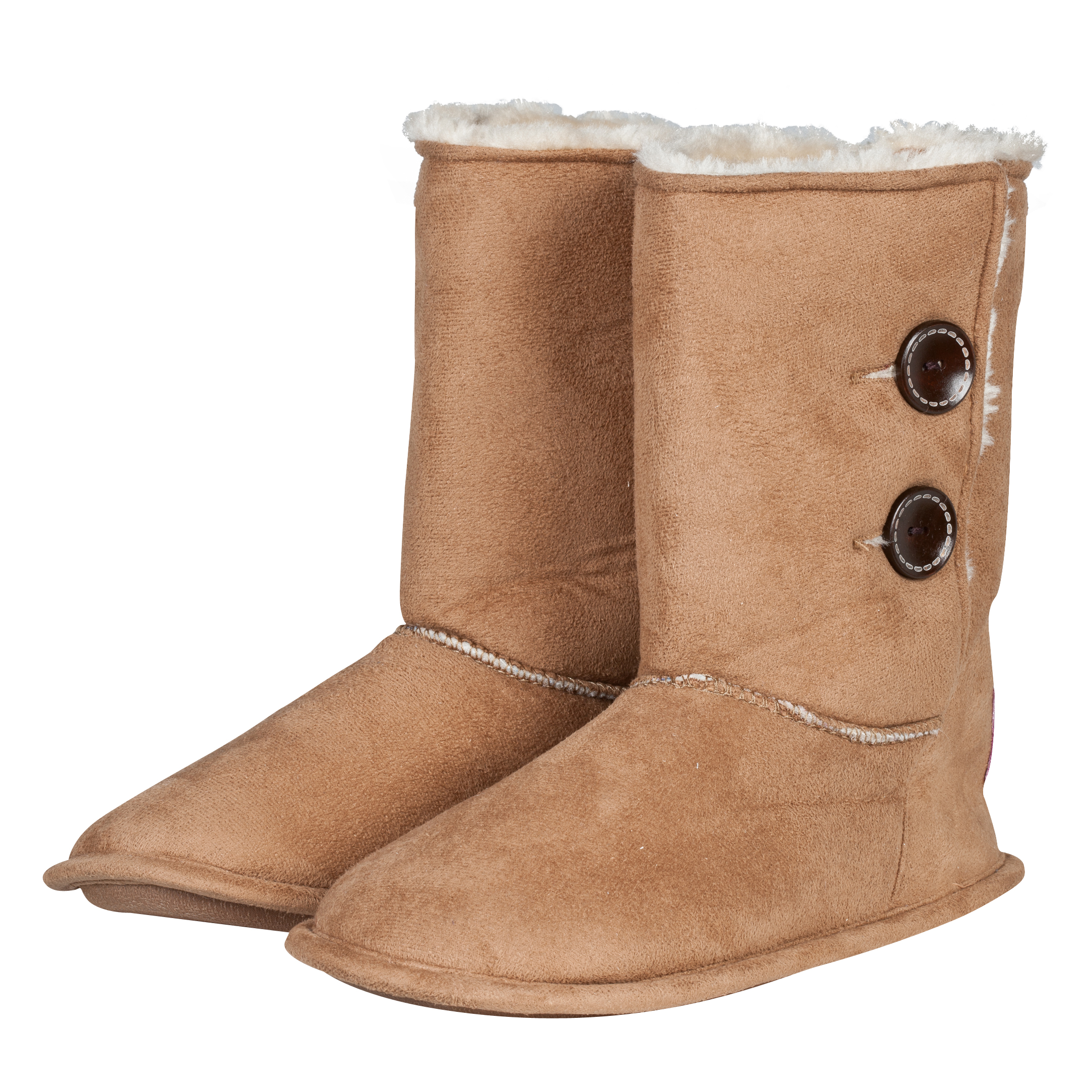 Chelsea Button Boot Slipper Tan Girls Tan