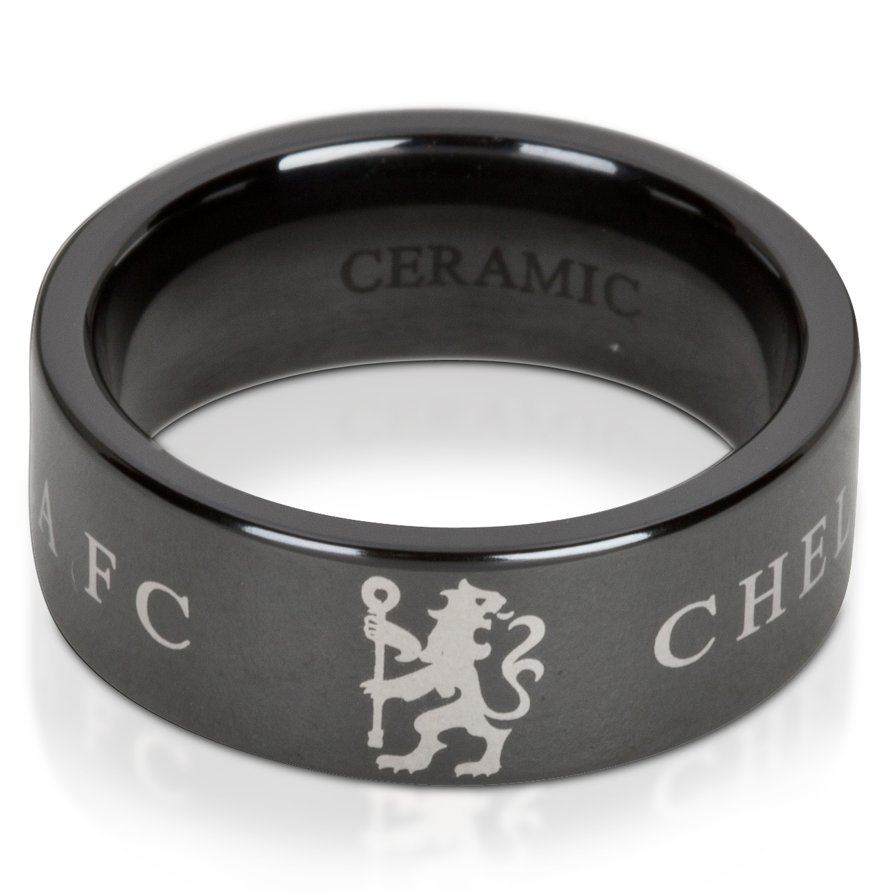 Chelsea Lion Band Ring - Ceramic