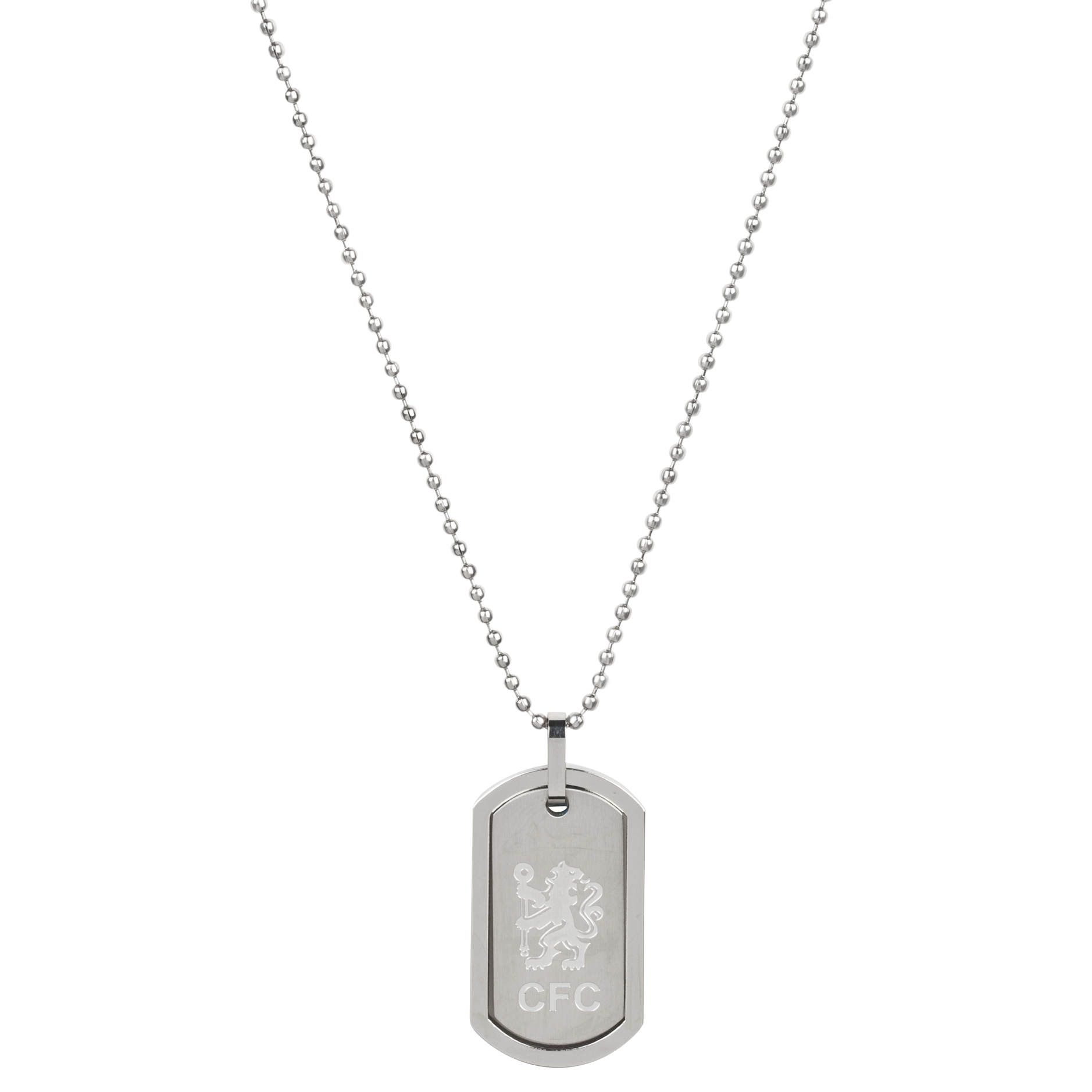 Chelsea Lion Dog Tag And Chain - Stainless Steel