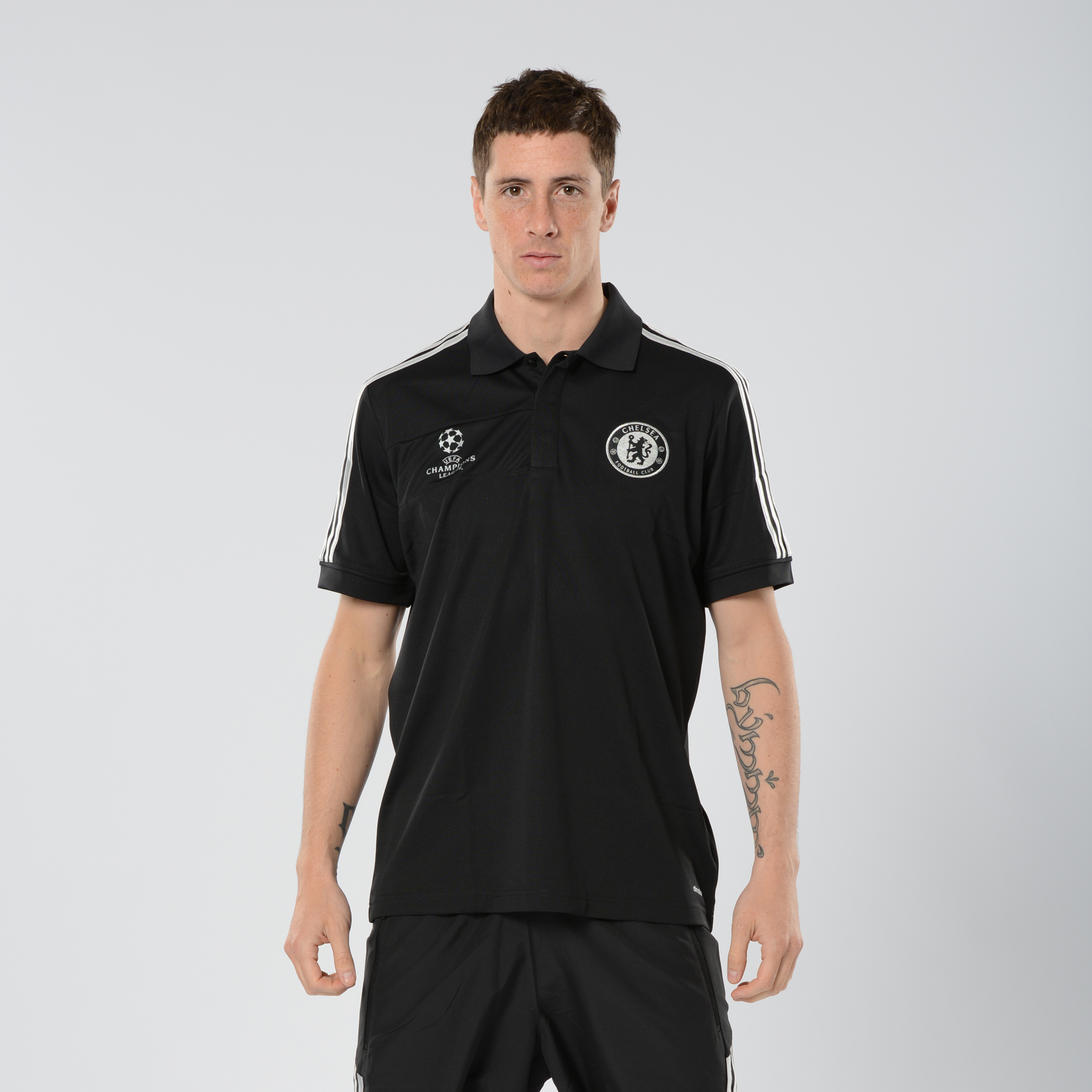 Chelsea UCL Training Polo Black