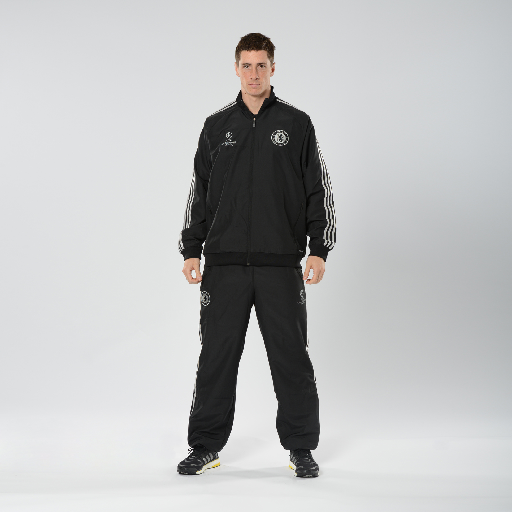 Chelsea UCL Training Presentation Suit Black
