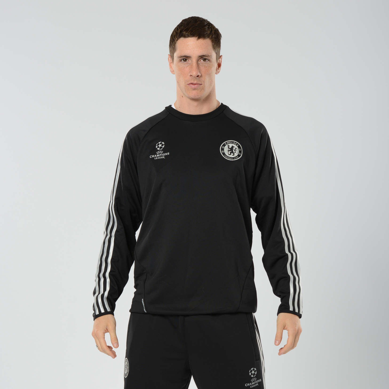 Chelsea UCL Training Top Black