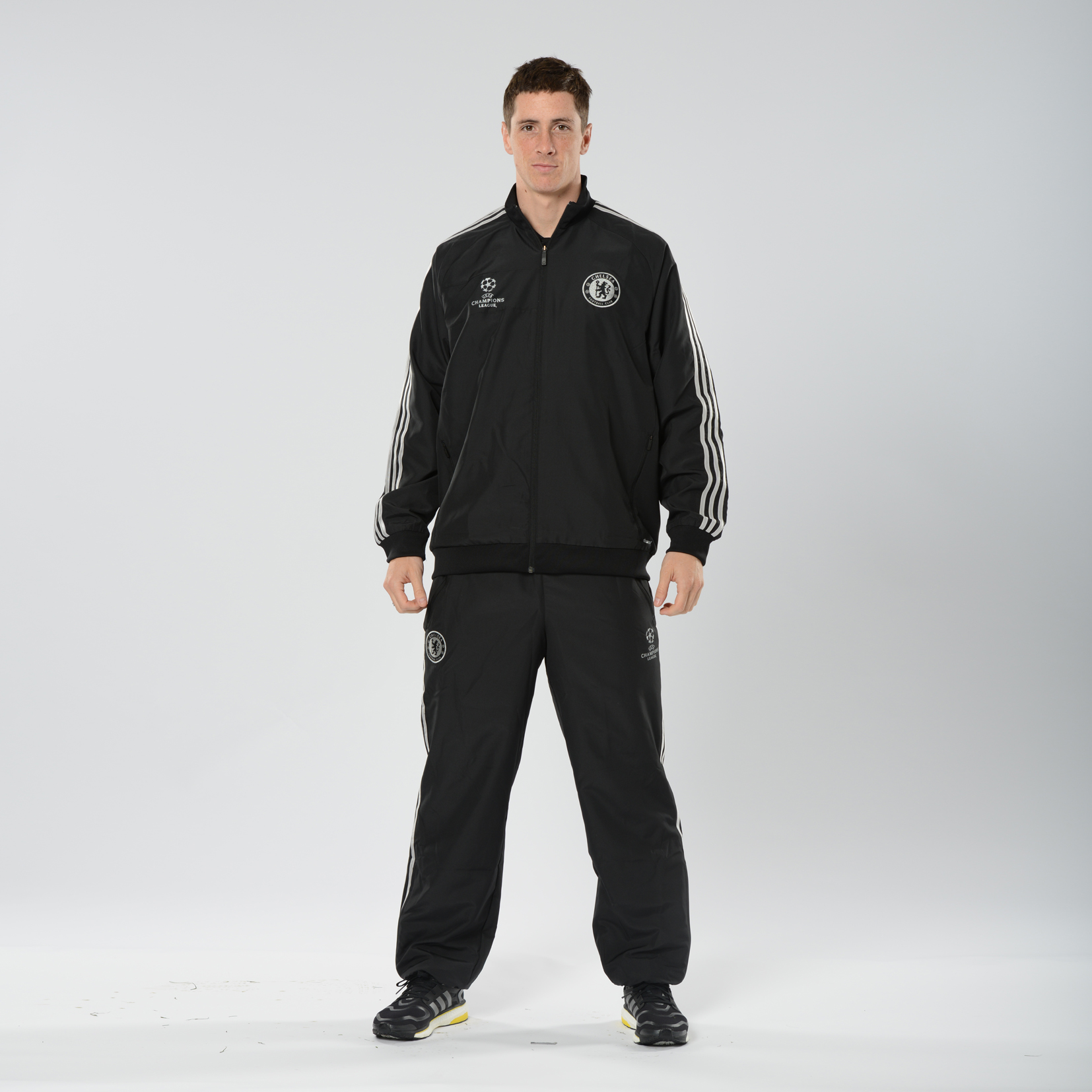 Chelsea UCL Training Presentation Suit - Kids Black