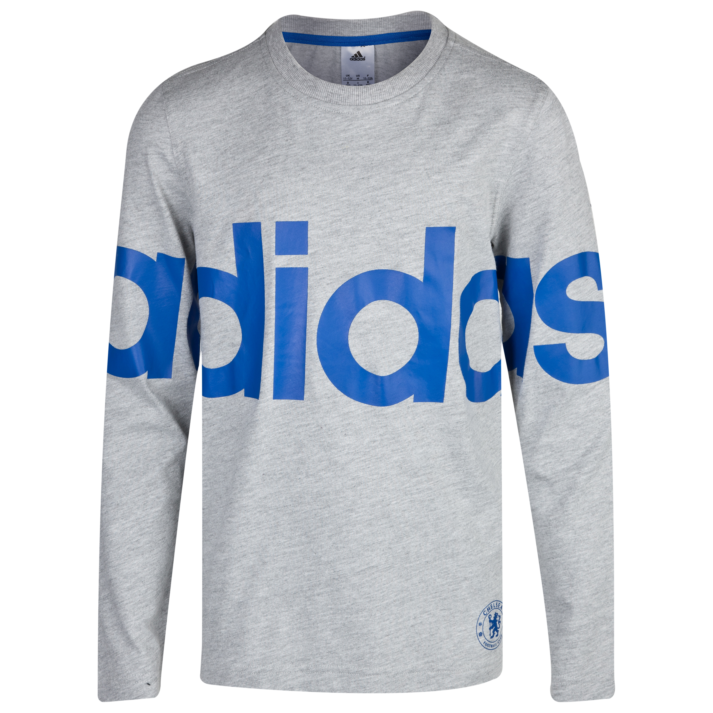 Chelsea adidas Long Sleeve T-Shirt Kids Grey