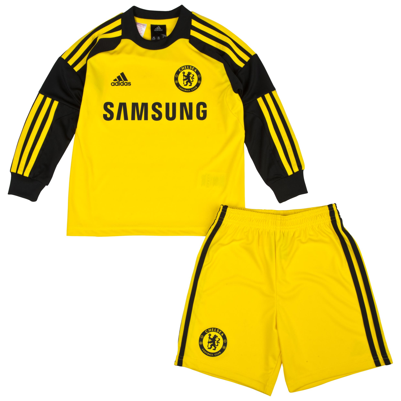 Chelsea Home Goalkeeper Mini Kit 2013/14