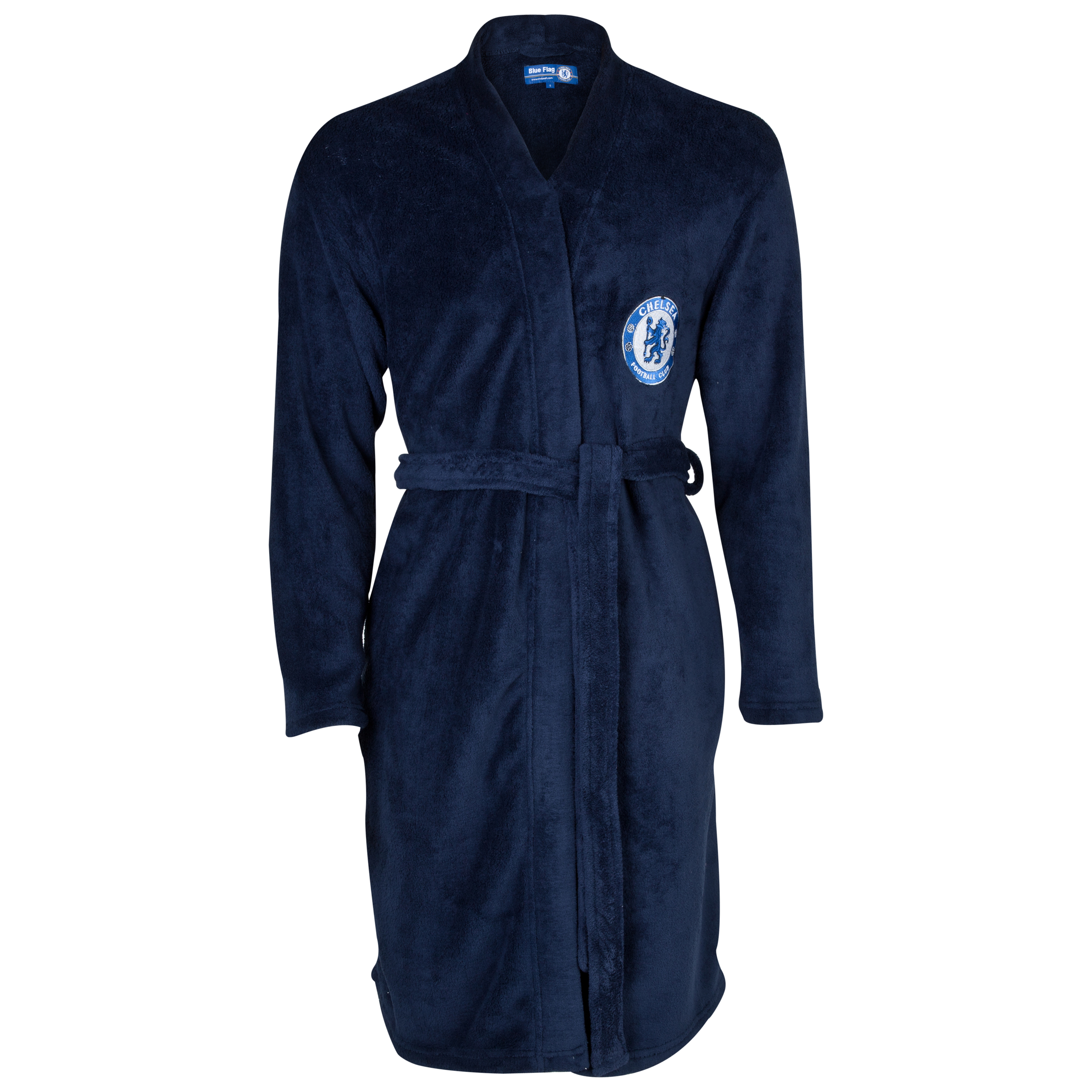 Chelsea Supersoft Crest Robe - Boys Navy