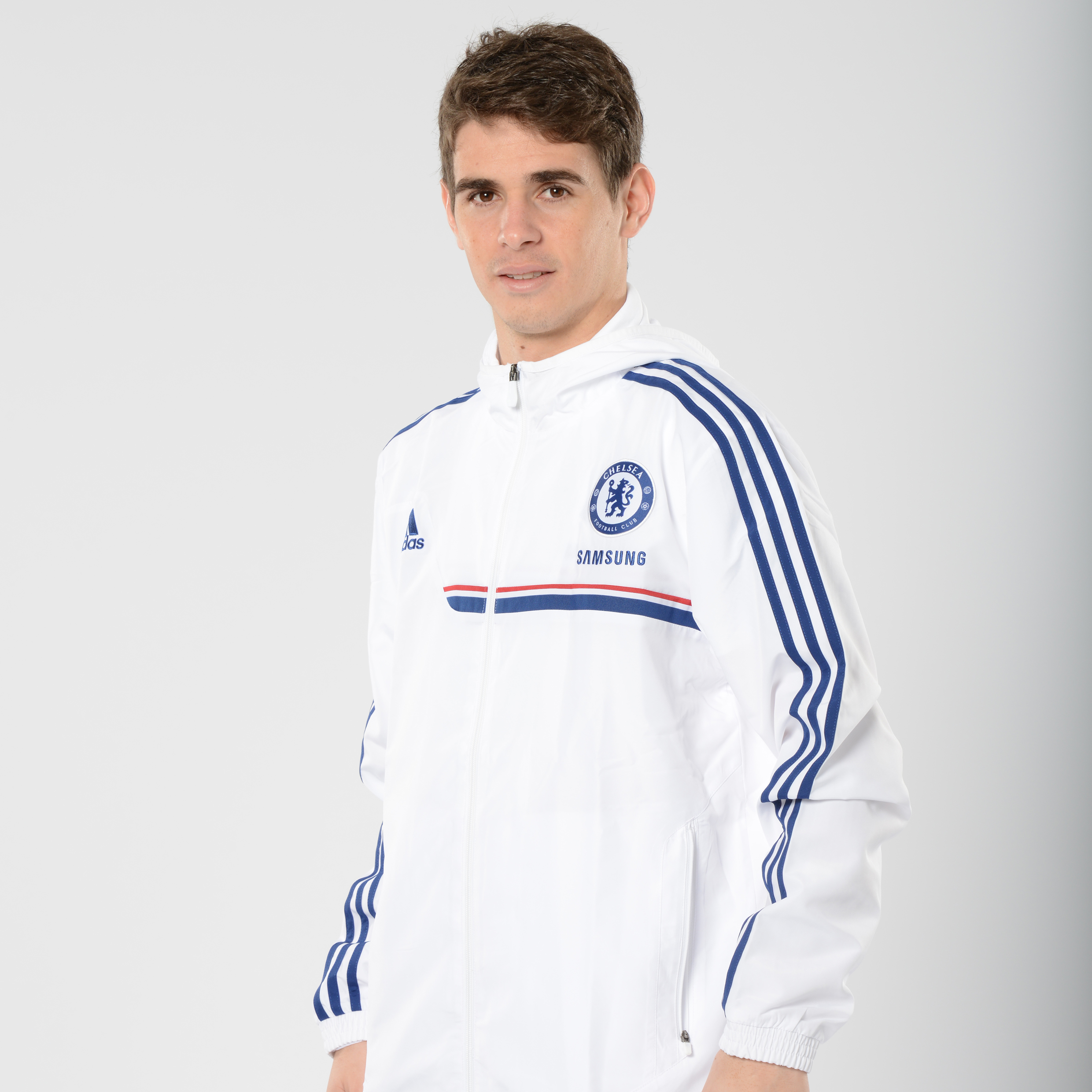 Chelsea Training Presentation Jacket White
