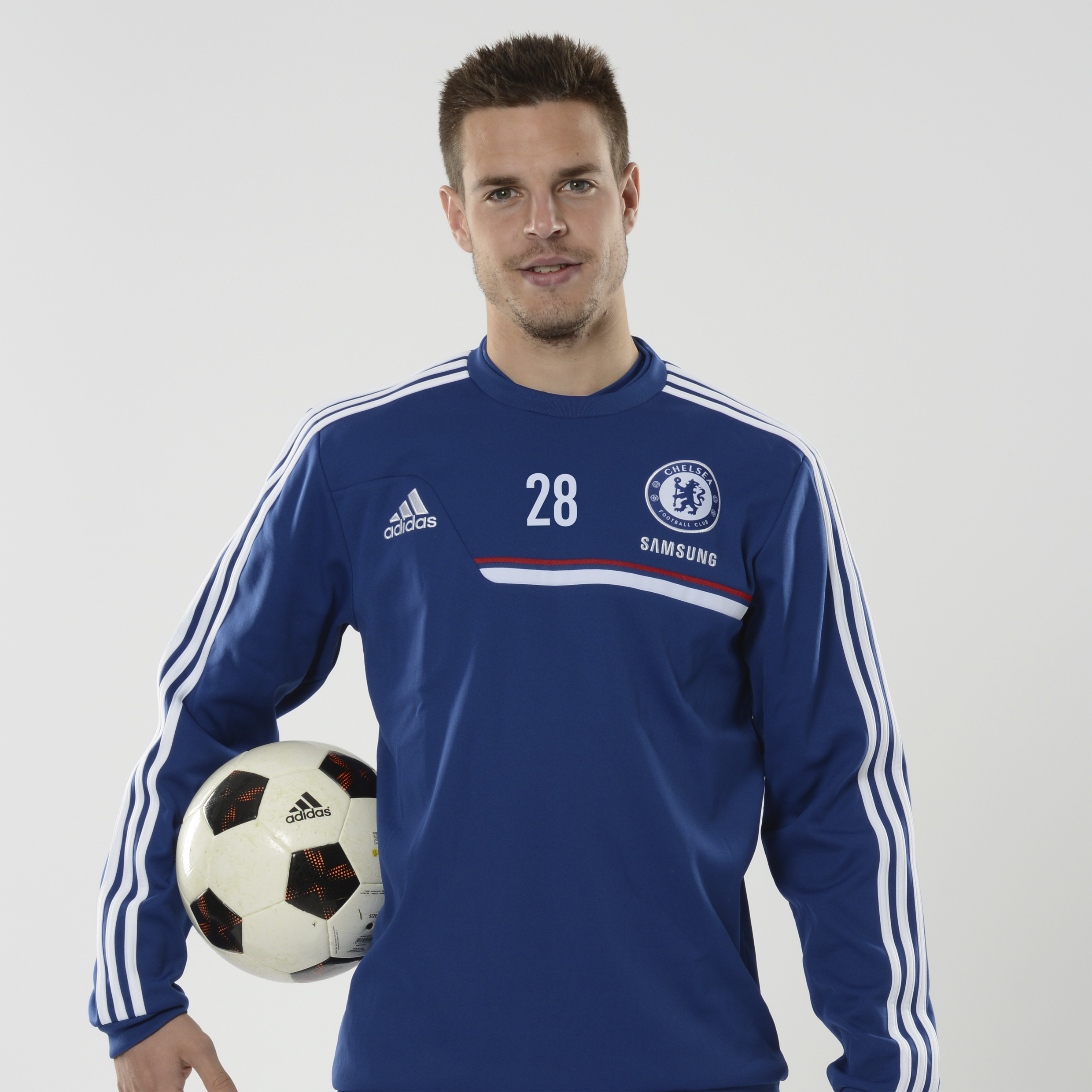 Chelsea Training Sweat Top Dk Blue