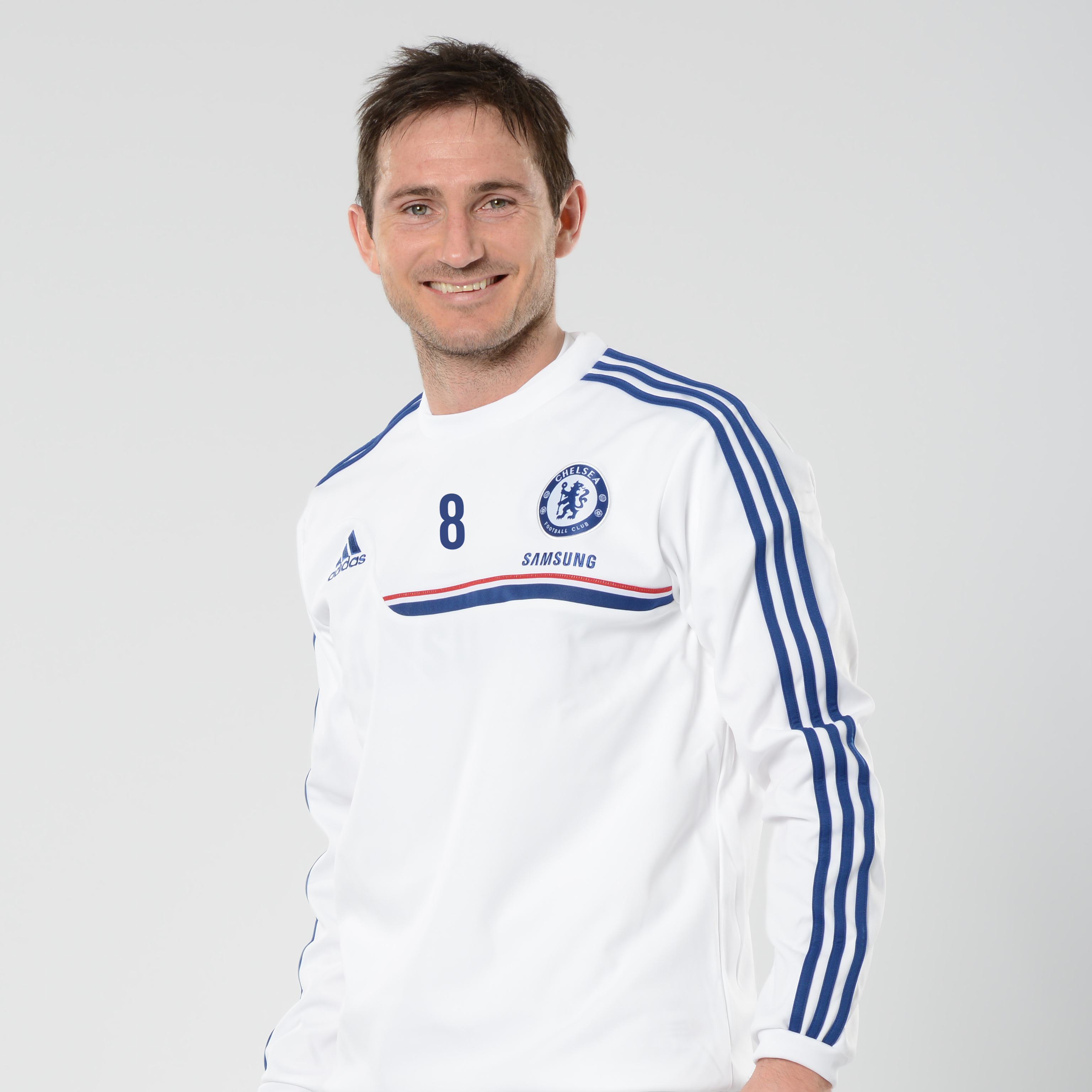Chelsea Training Sweat Top White