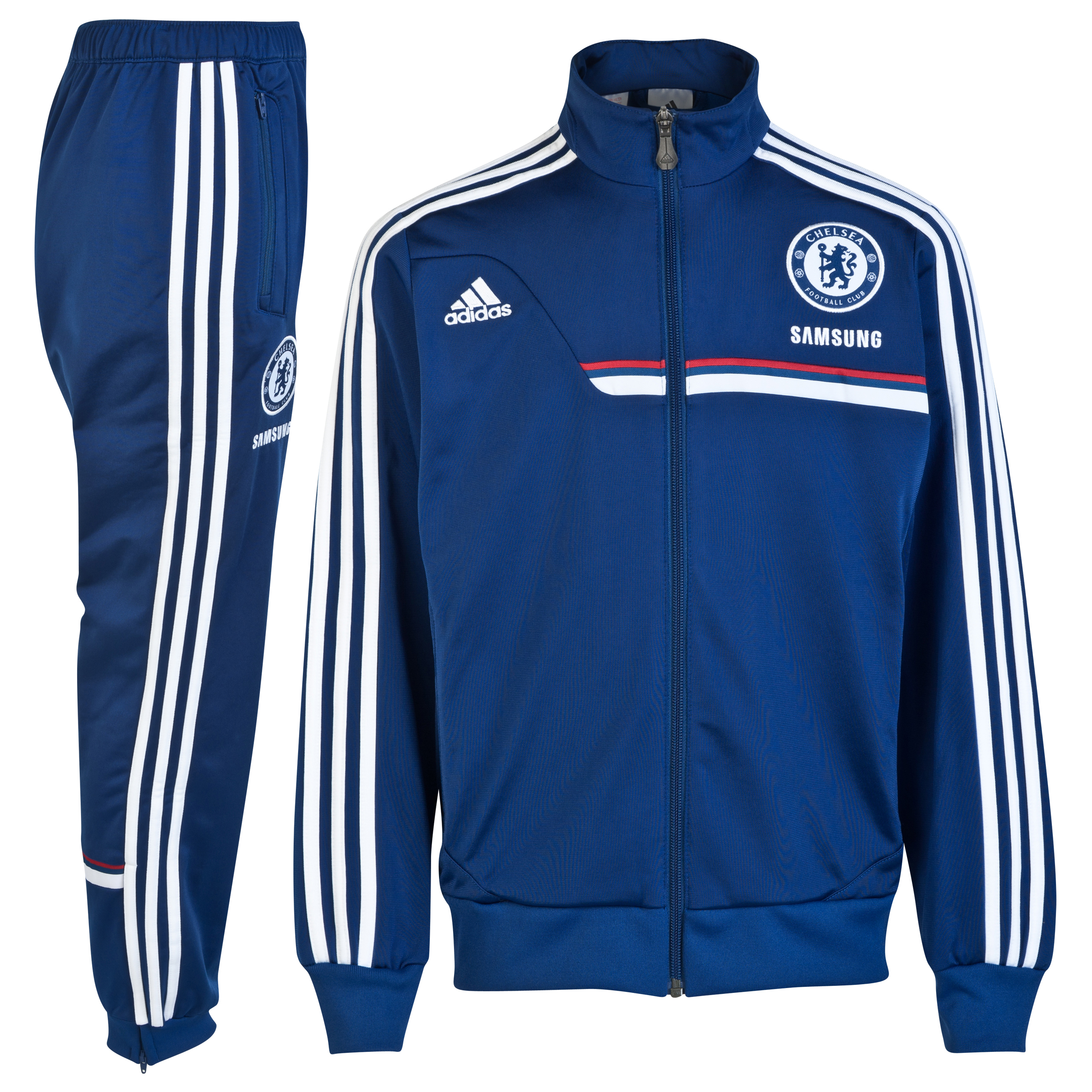 Chelsea Training Presentation Suit Kids Dk Blue