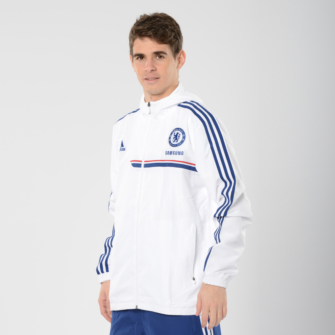 Chelsea Training Presentation Jacket Kids White