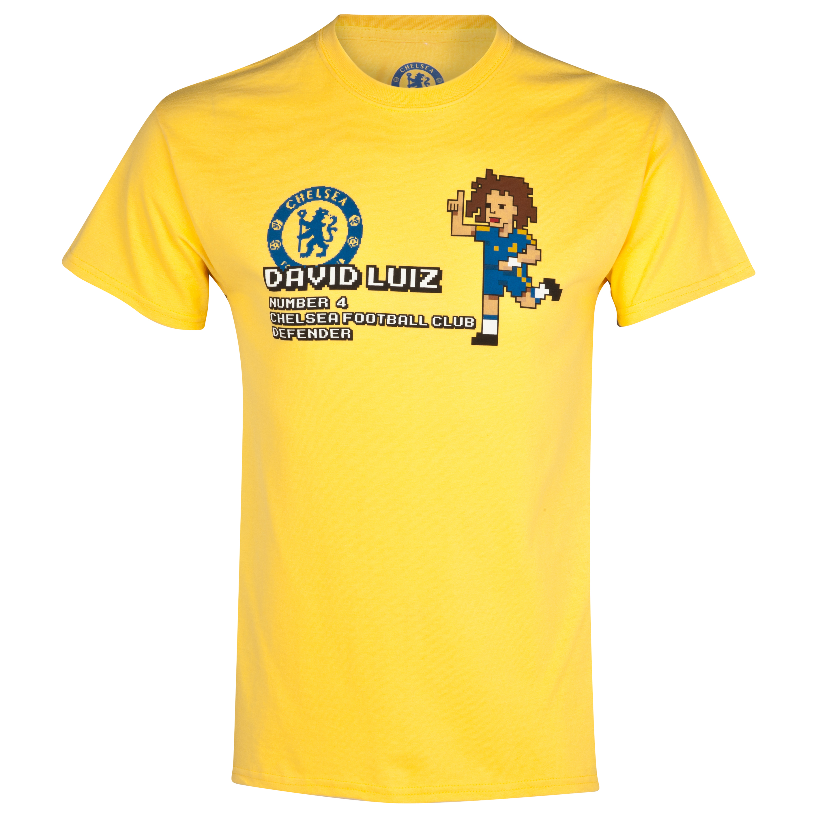 Chelsea David Luiz Pixel T-Shirt - Boys Yellow
