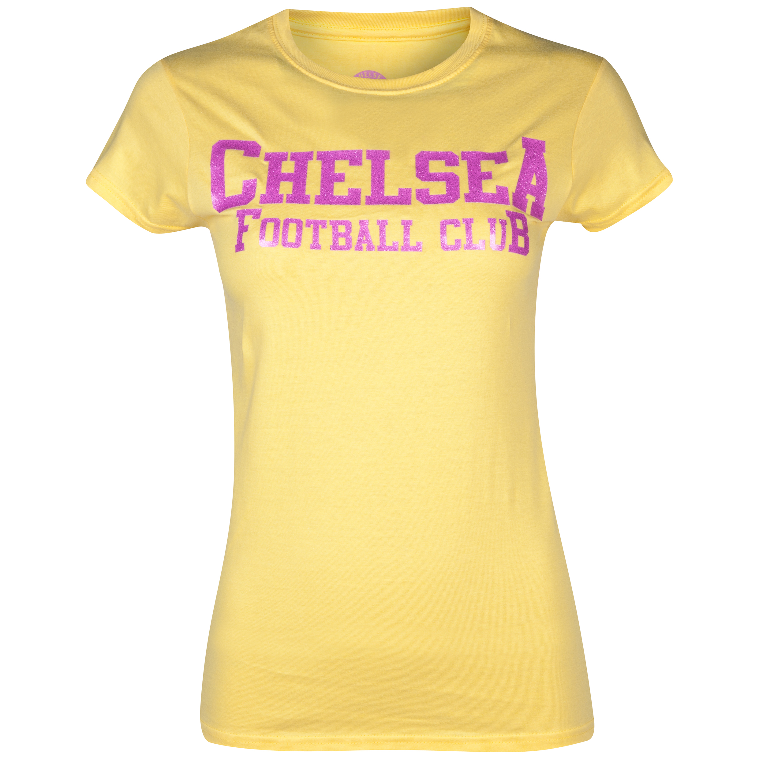 Chelsea Club Glitter T-Shirt - Womens Yellow