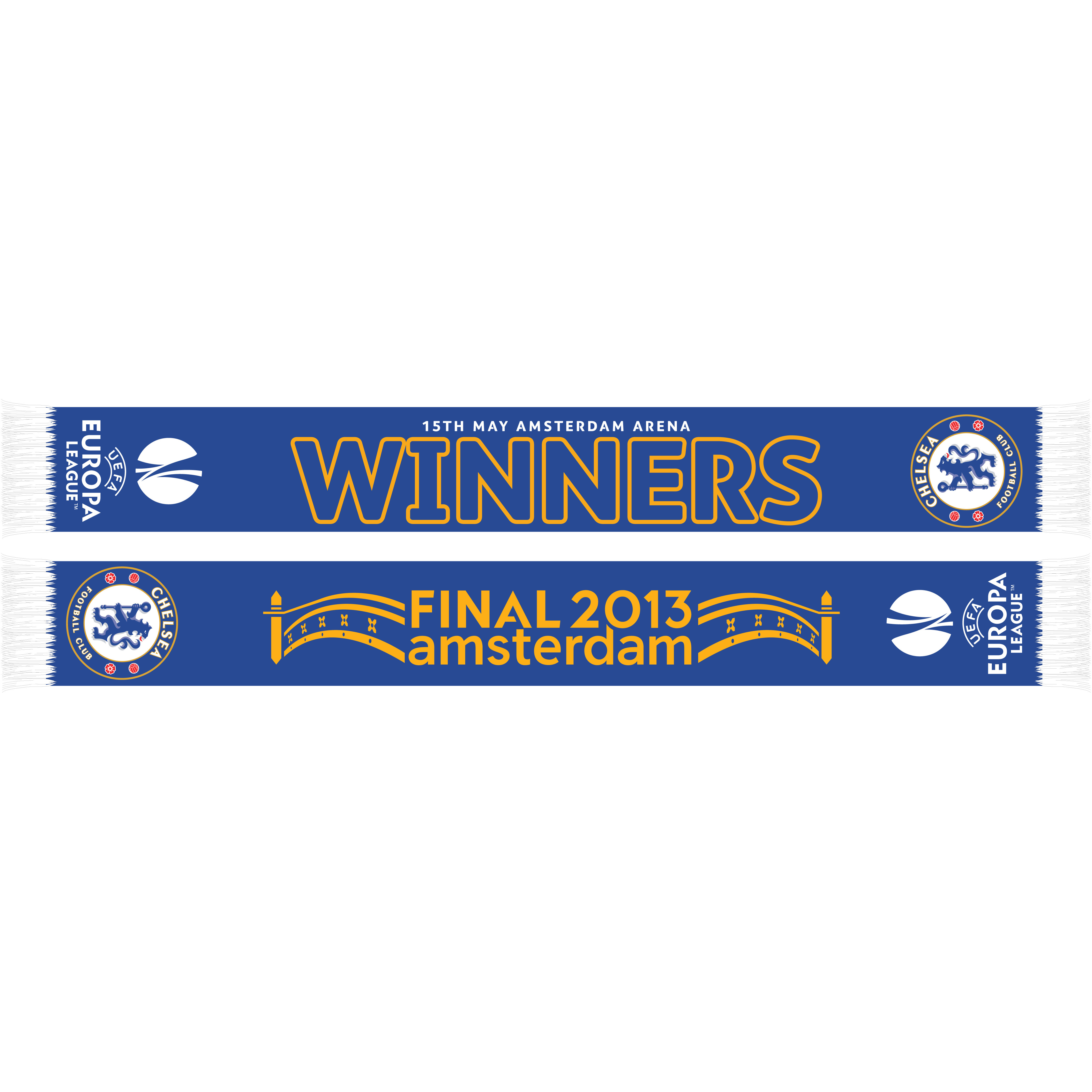 Chelsea UEFA Europa League Winners 2013 Scarf Royal Blue