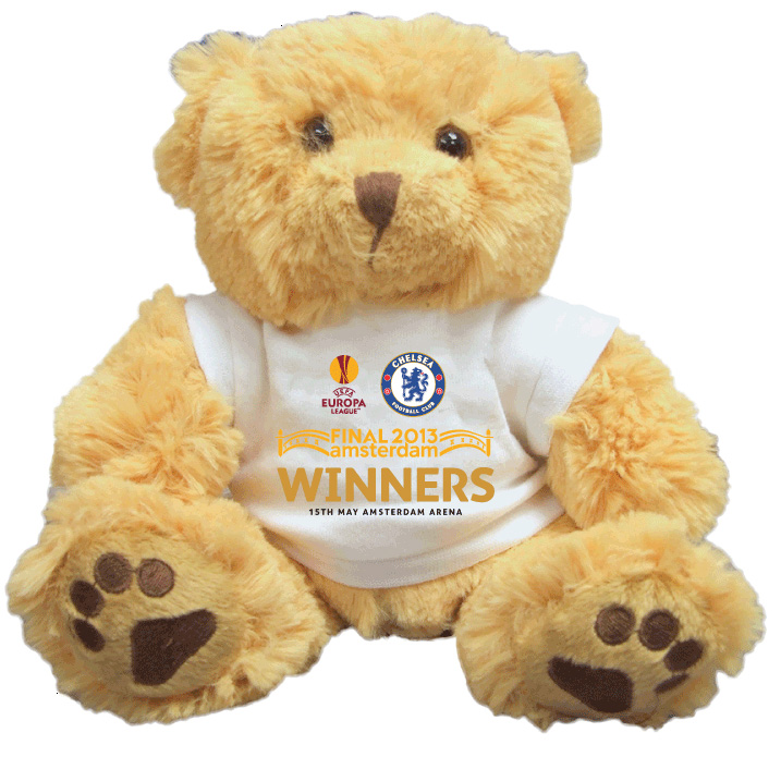 Chelsea EUROPA League 2013 Winners Bear - 10 Inch
