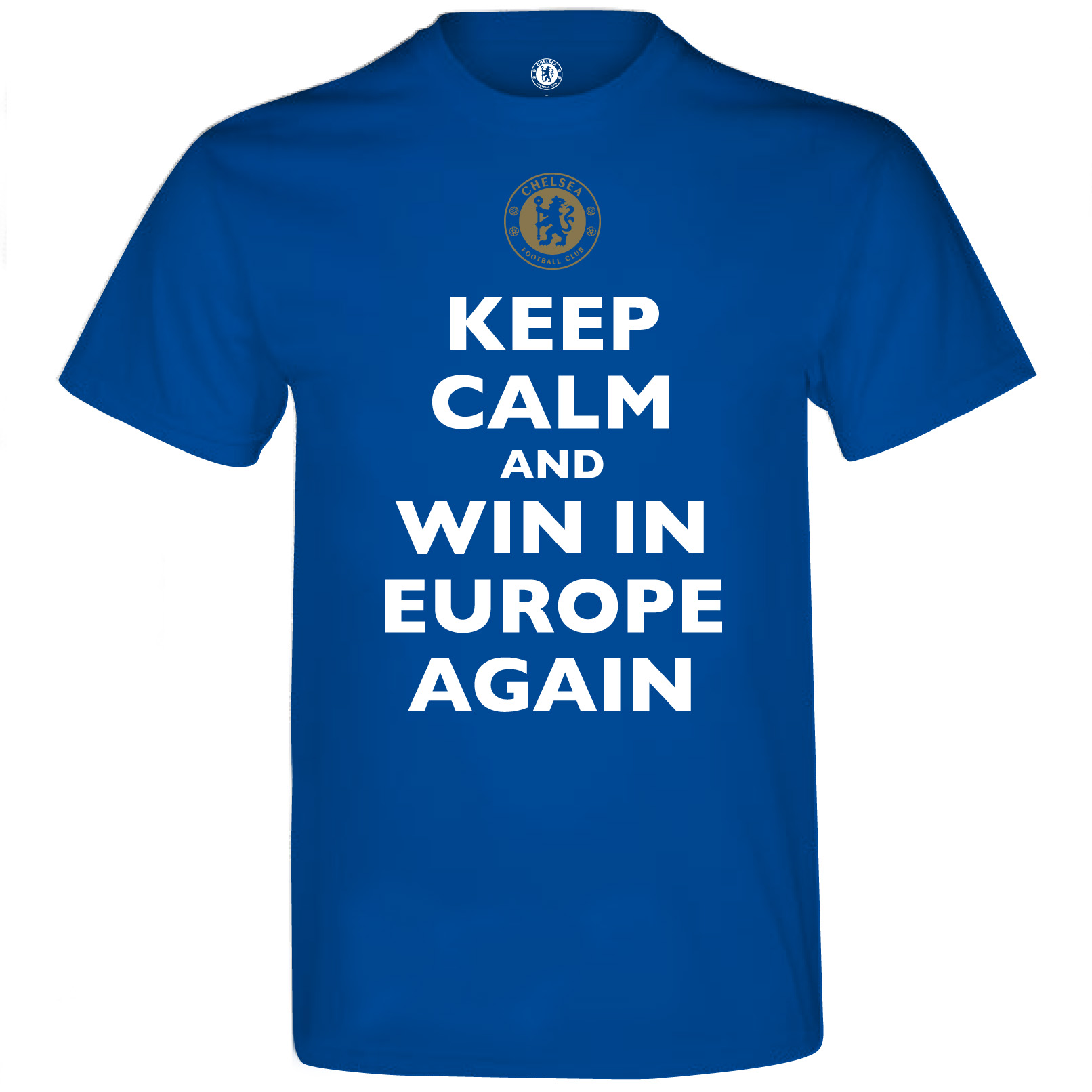 Chelsea Europa Winners Keep Calm T-Shirt - Mens Royal Blue