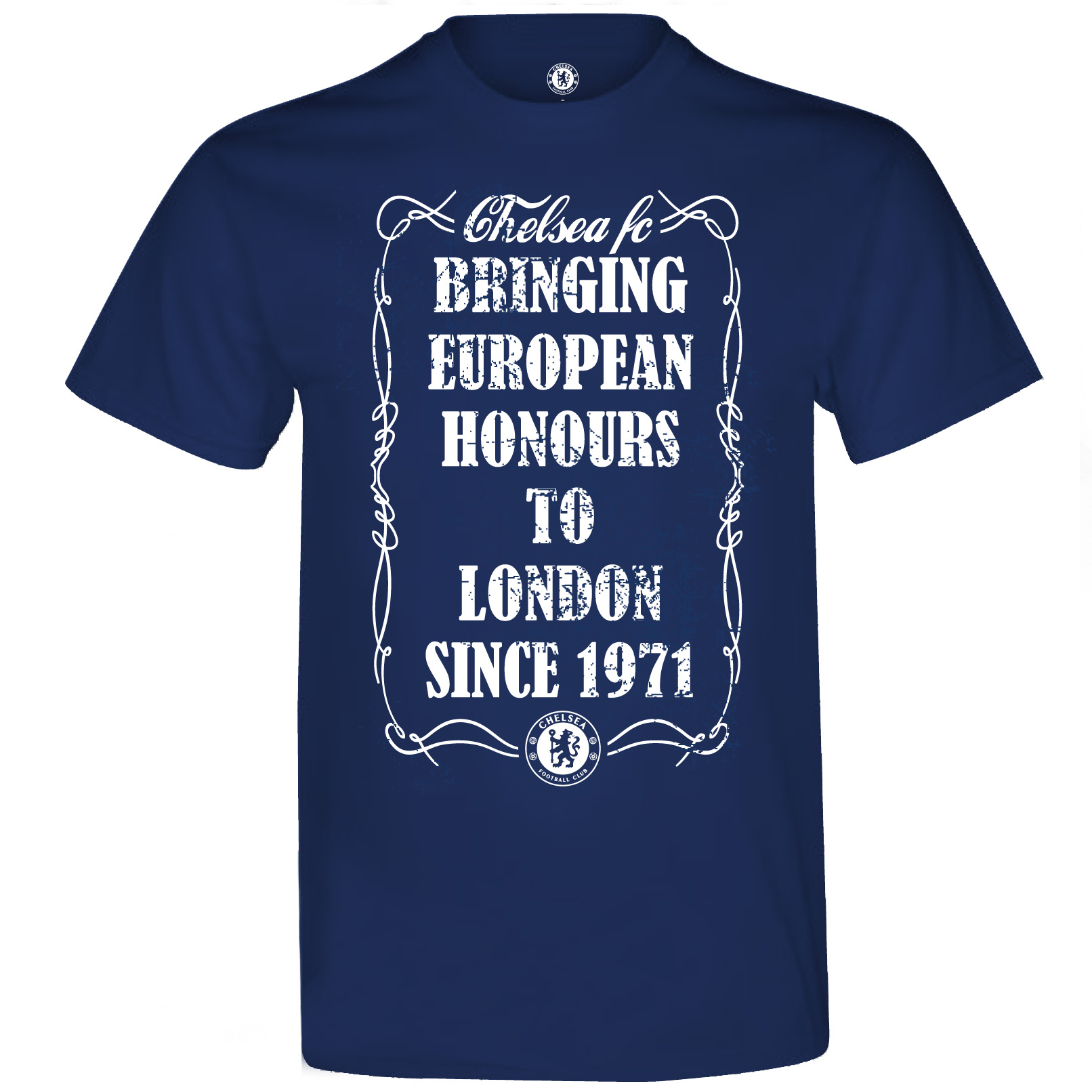 Chelsea Europa Winners London T-Shirt - Mens Navy