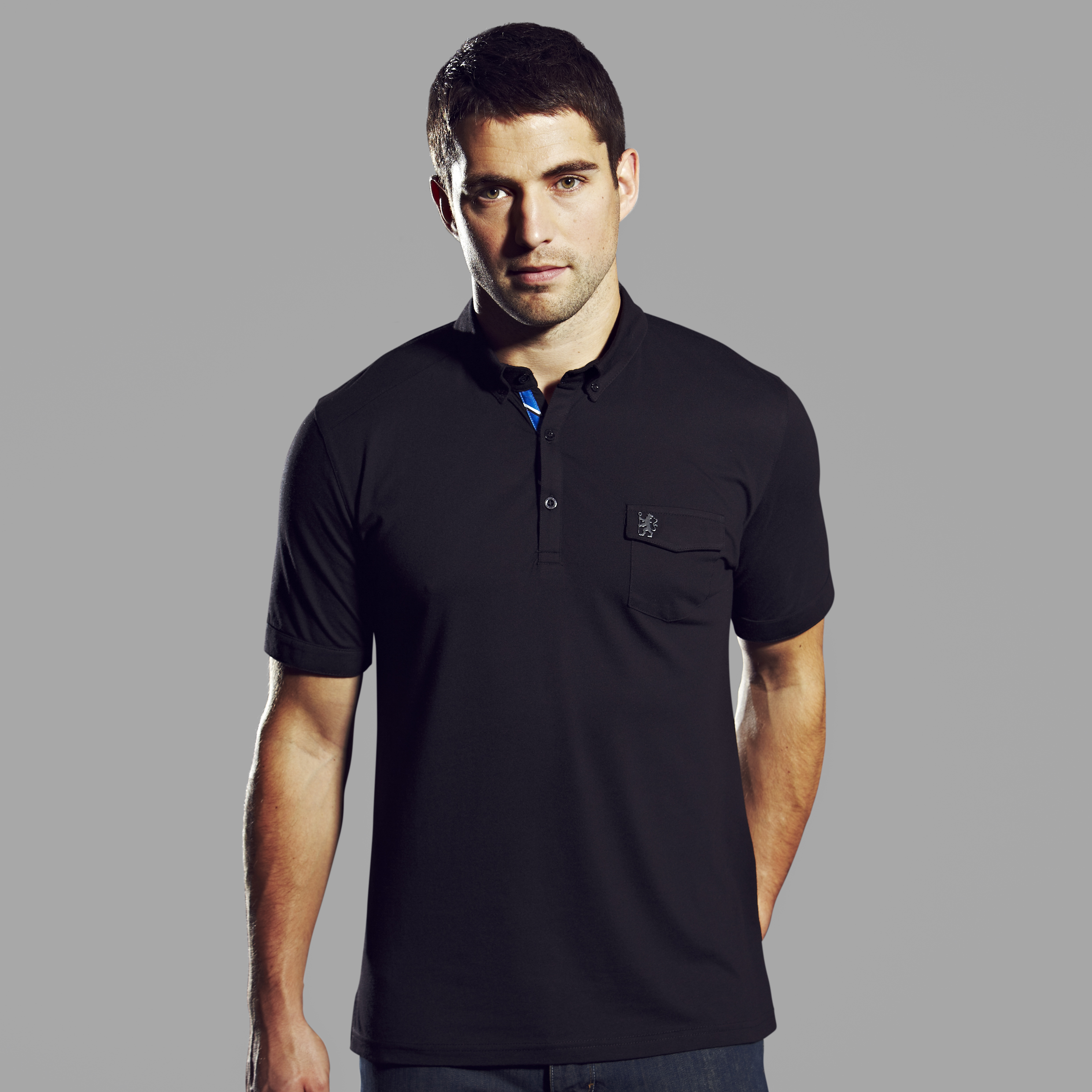Chelsea Collection Pocket Polo - Mens Black