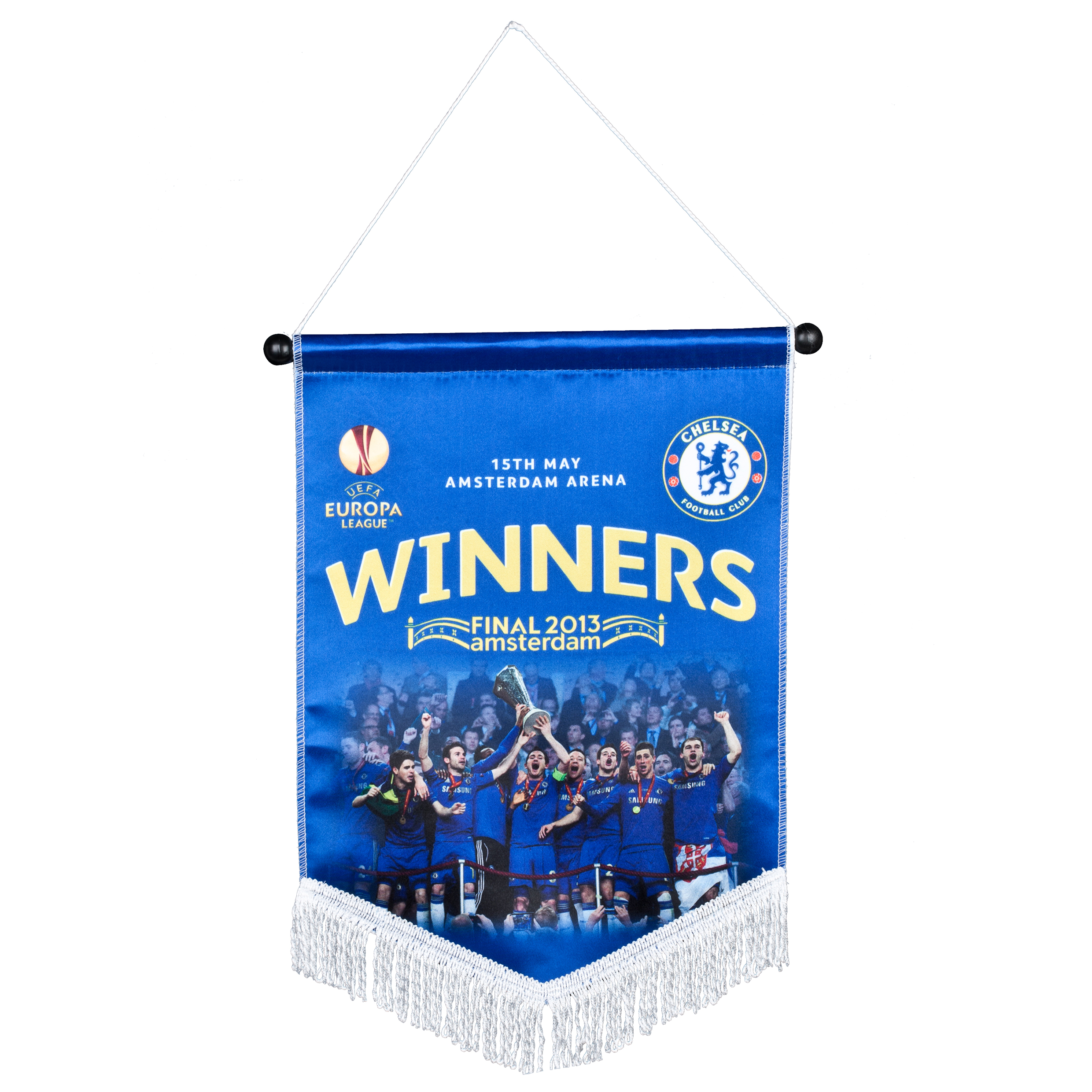 Chelsea EUROPA League 2013 Photo Celebration Winners Pennant