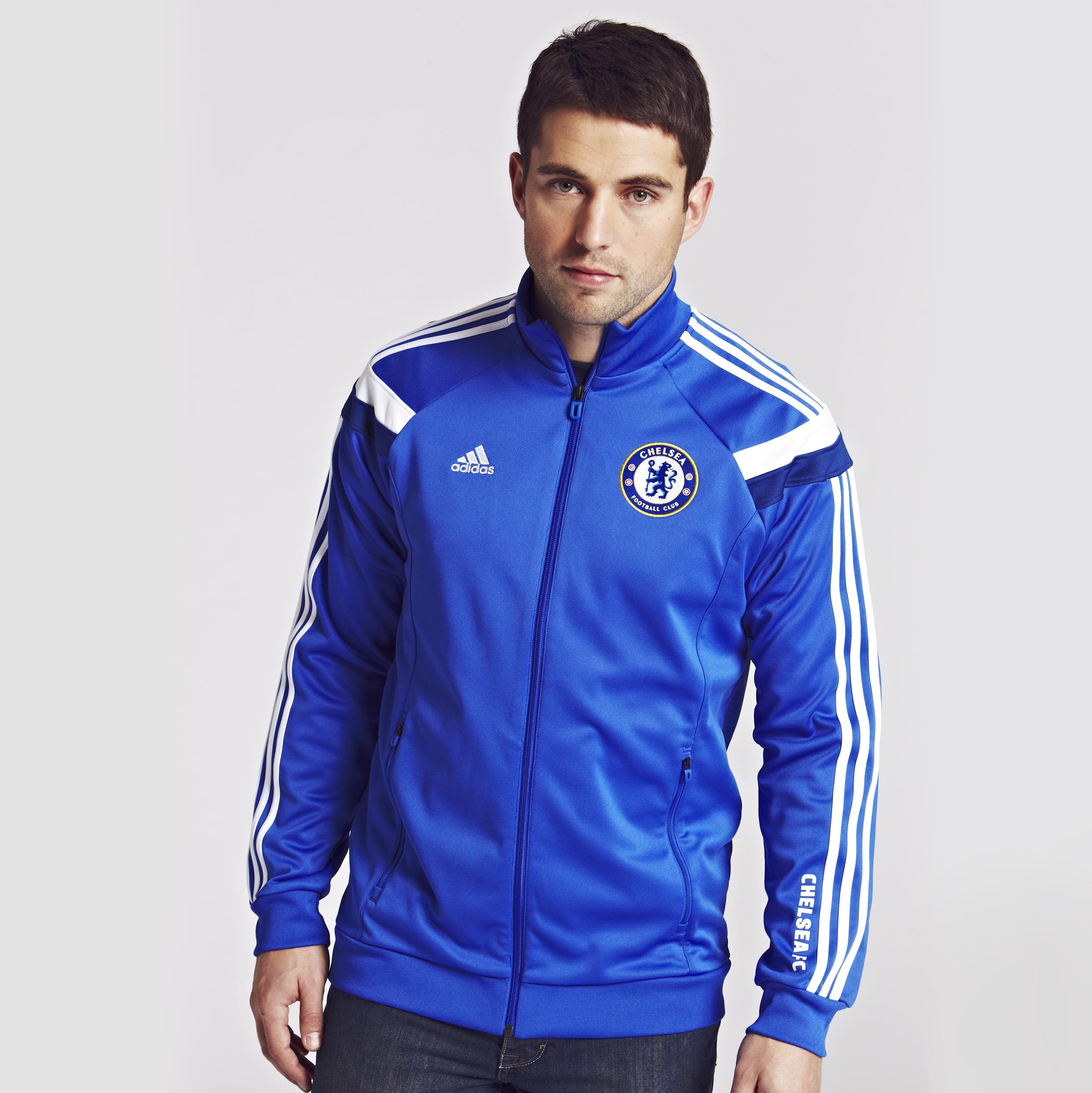 Chelsea Anthem Jacket - Reflex Blue/White/Dark Blue Blue