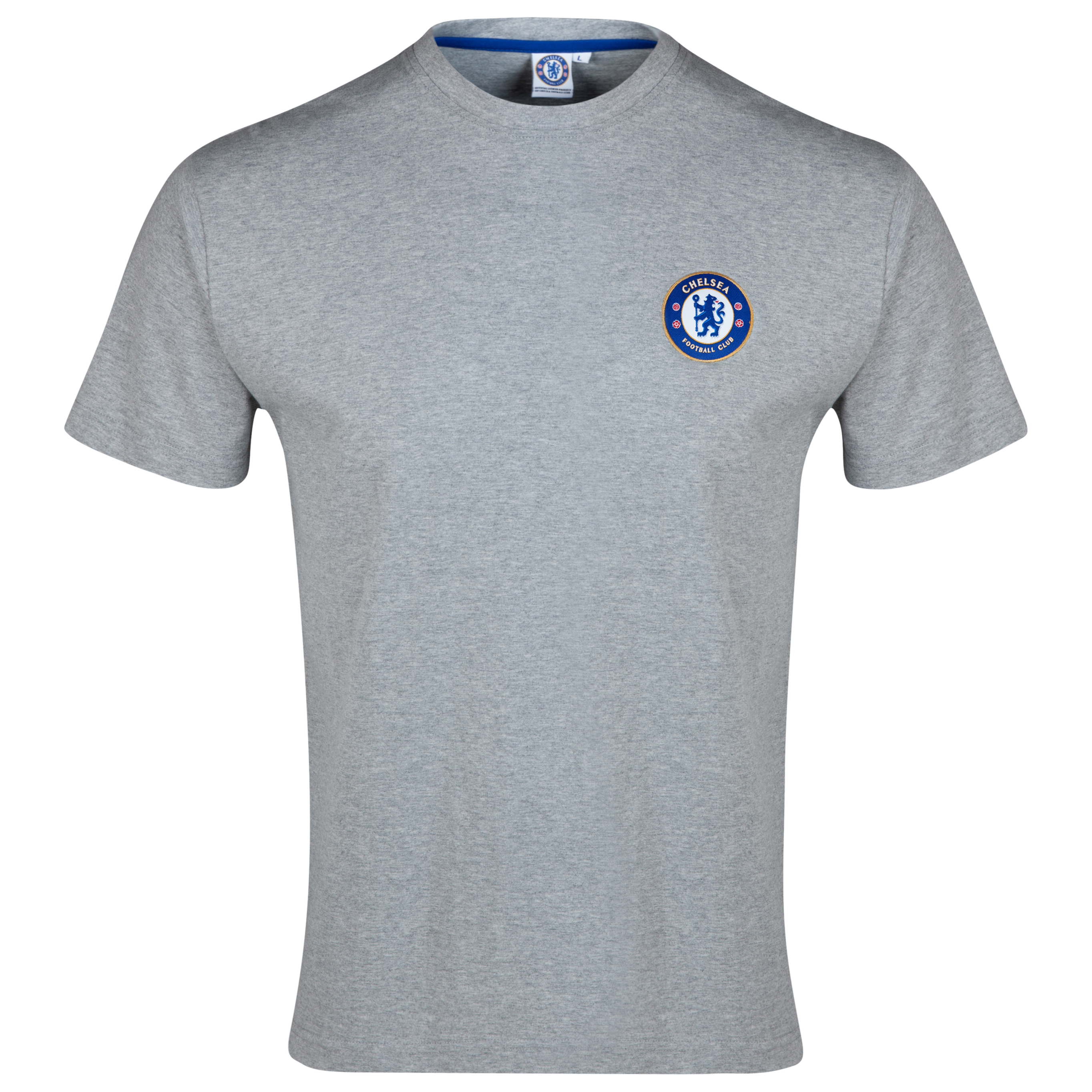 Chelsea Basic Crest T-Shirt - Mens Grey