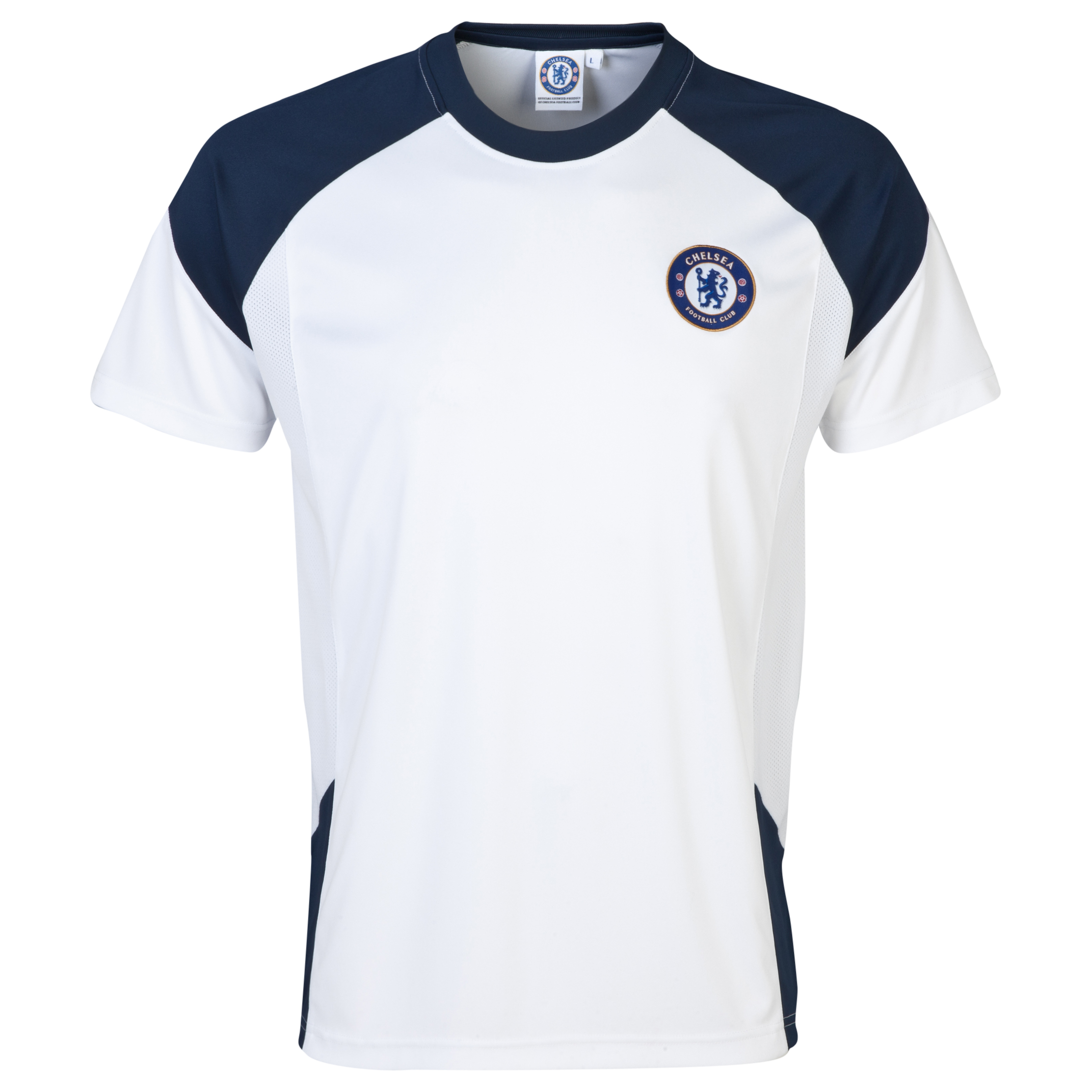 Chelsea Basic Poly Panel T-Shirt - Mens White