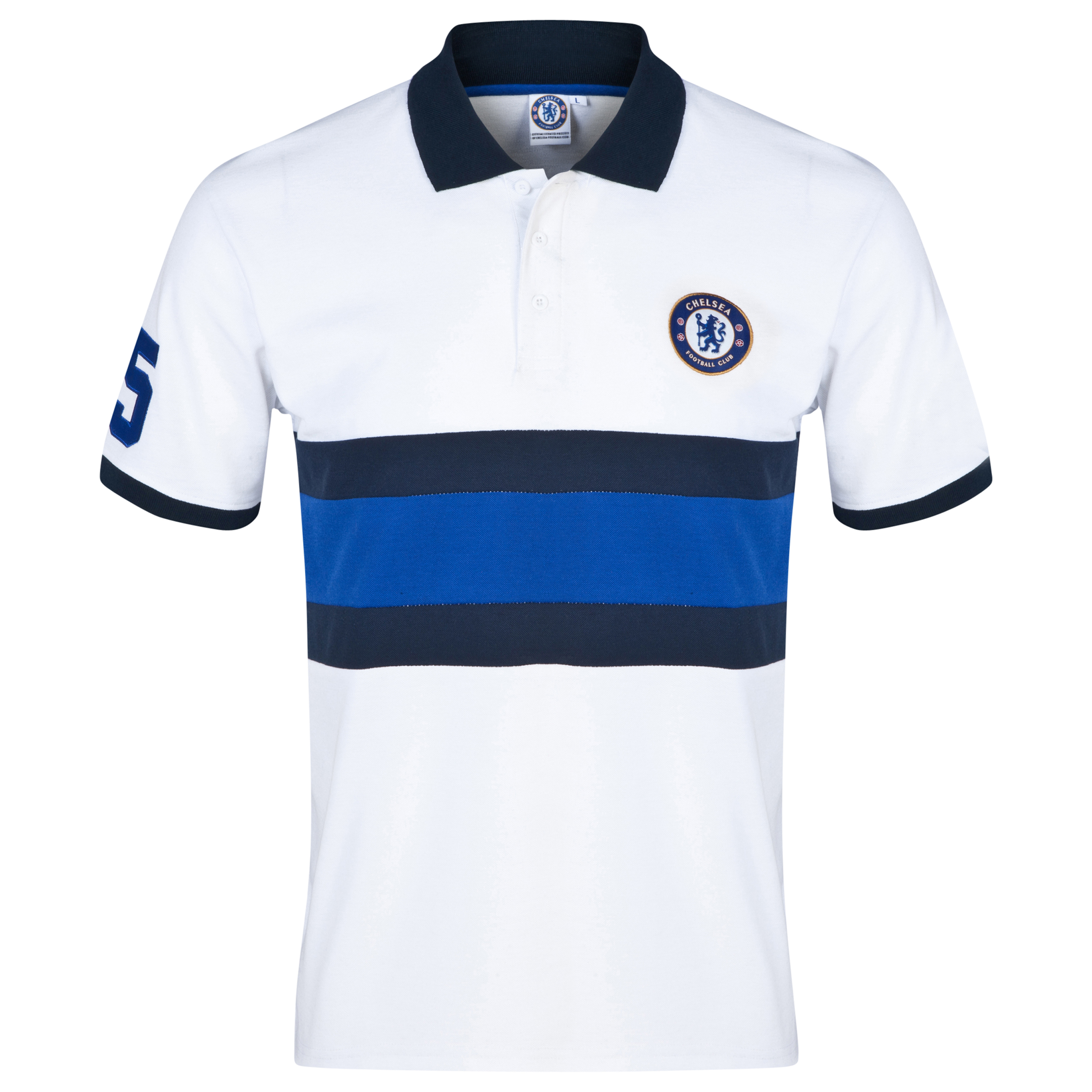 Chelsea Core Panelled Polo Shirt - Mens White