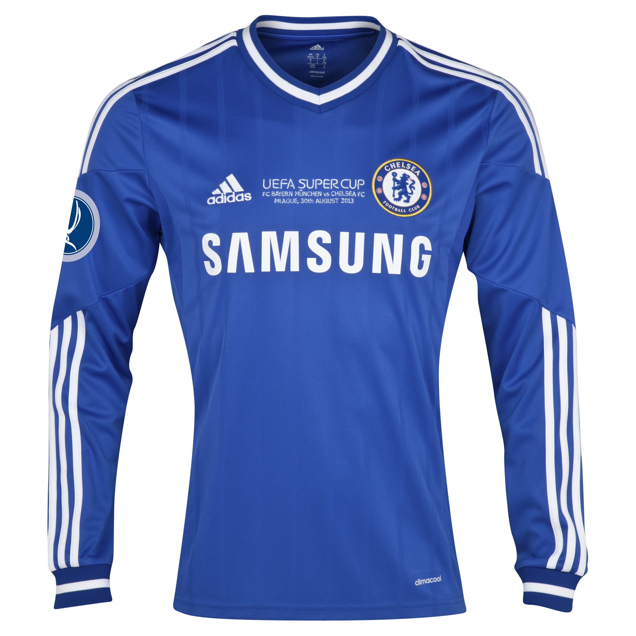 Chelsea Home Shirt 2013/14 - Long Sleeve - With Super Cup Embroidery