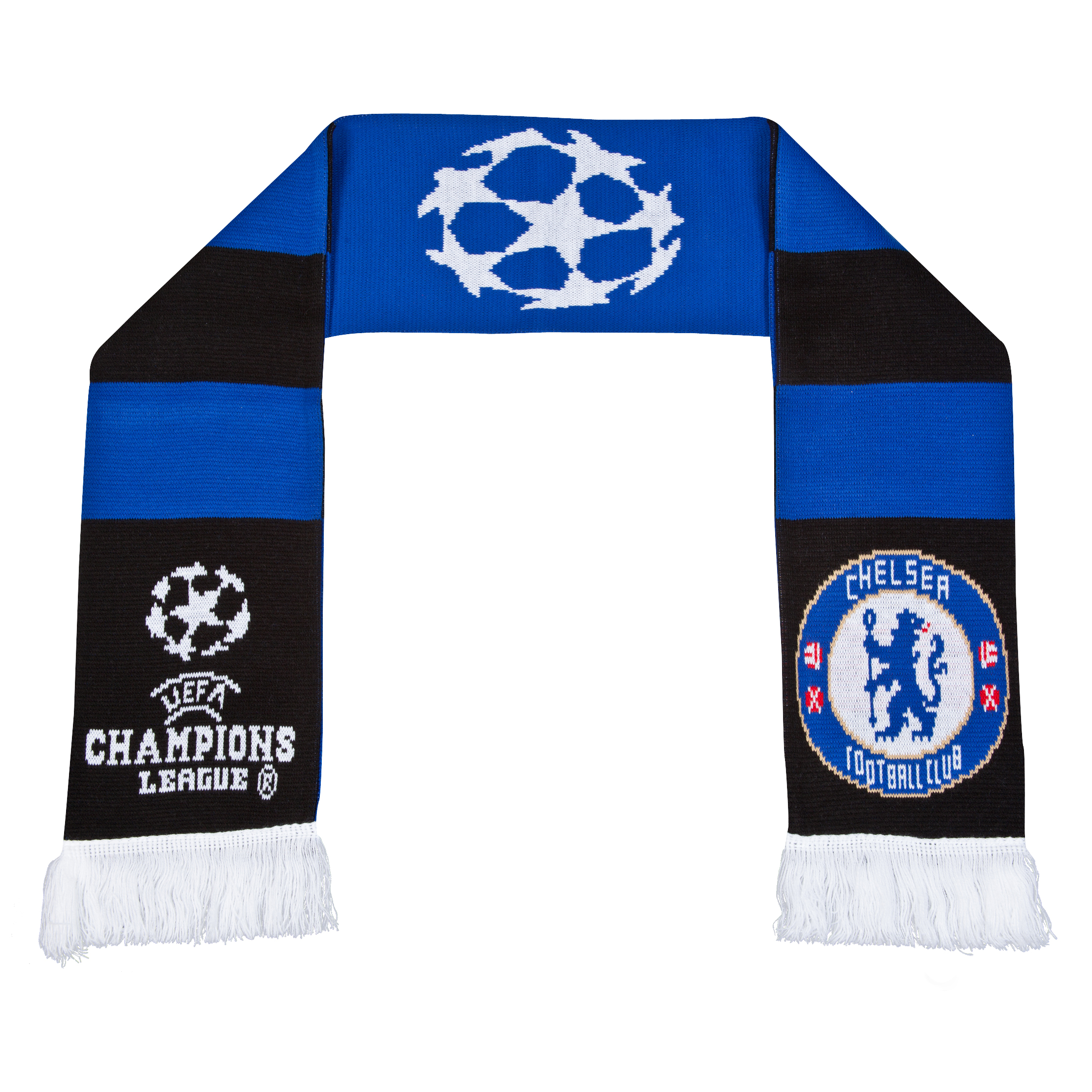 Chelsea UEFA Champions League Retro Bar Scarf Royal Blue