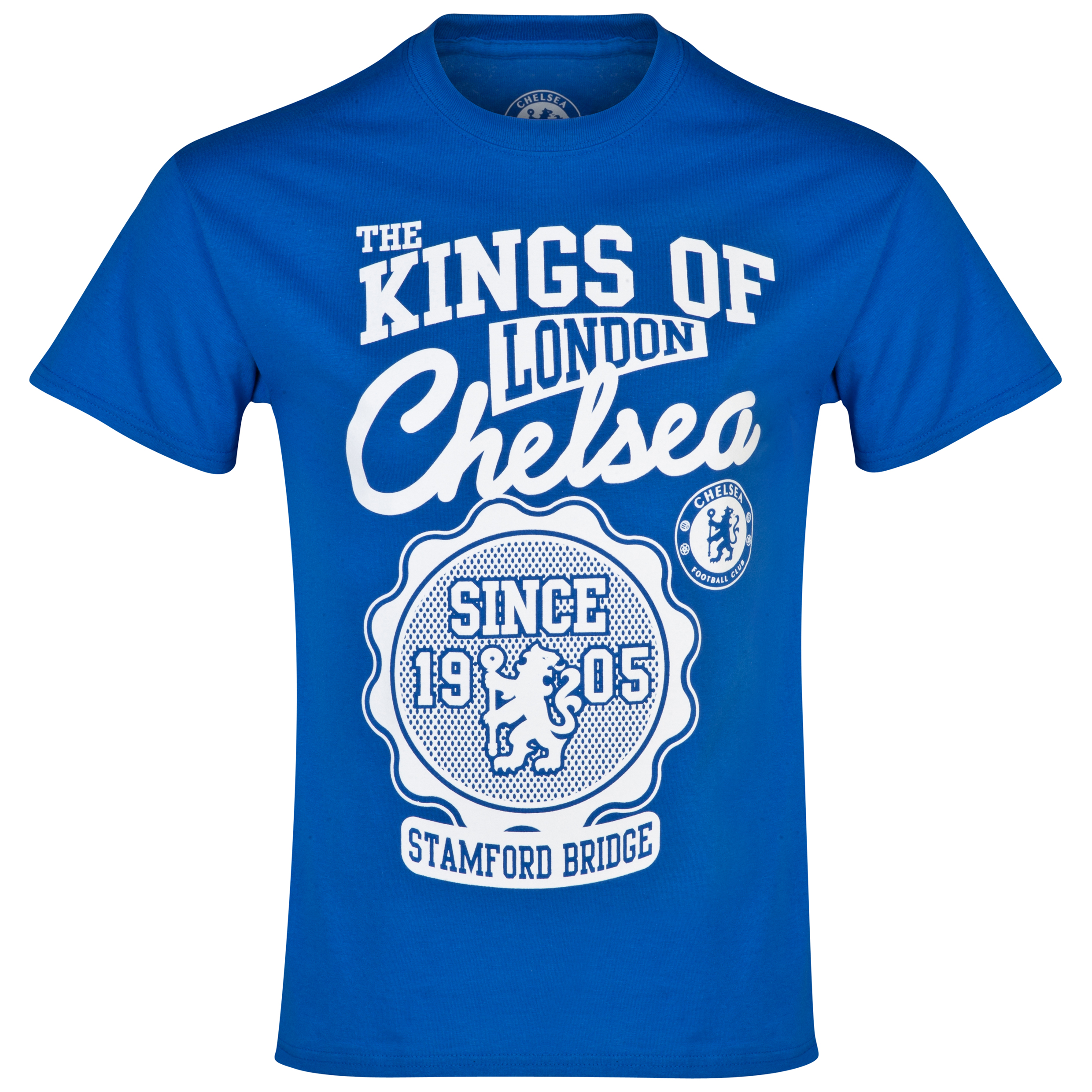 Chelsea The Kings of London T-Shirt - Mens Blue