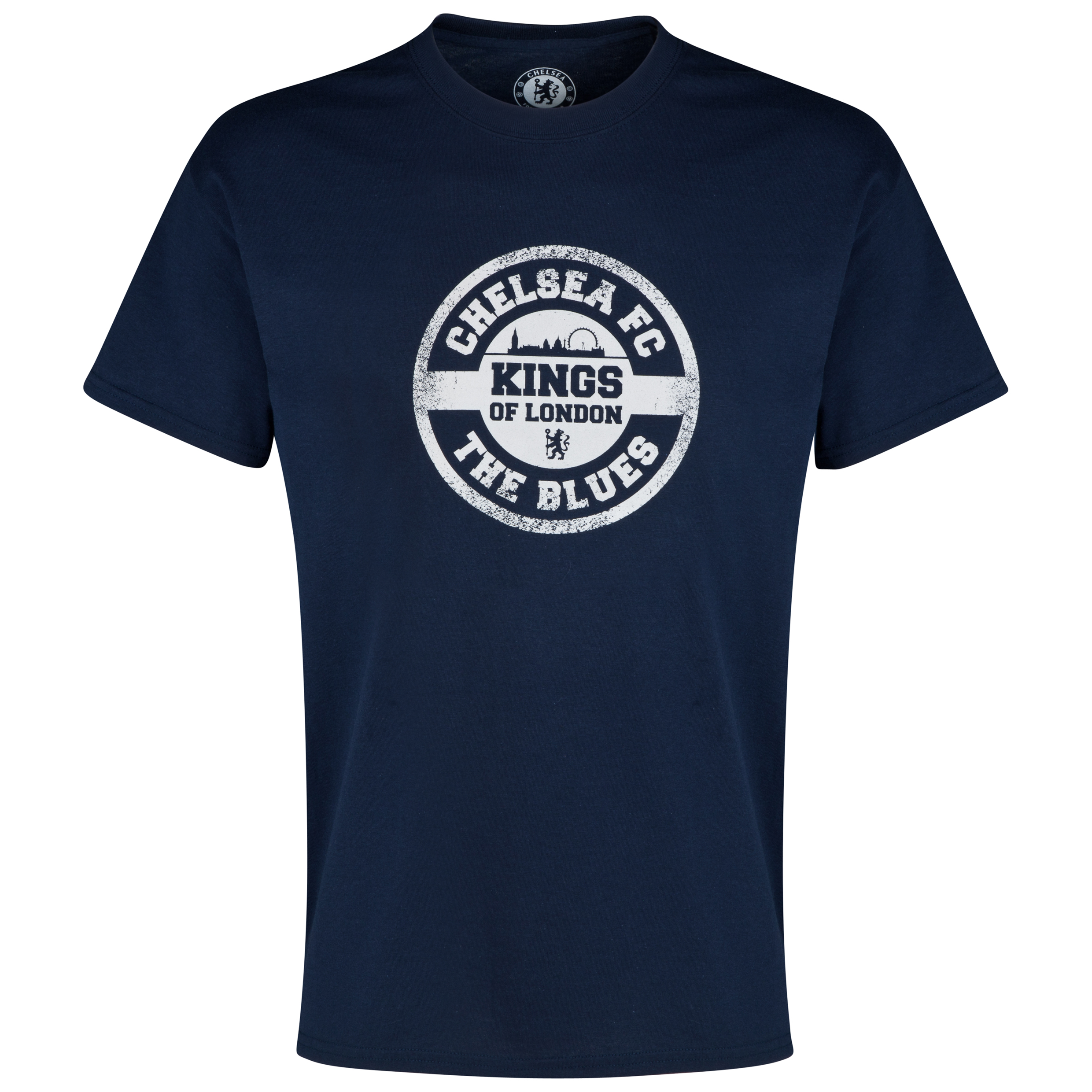 Chelsea Distressed Stamp T-Shirt - Mens Navy