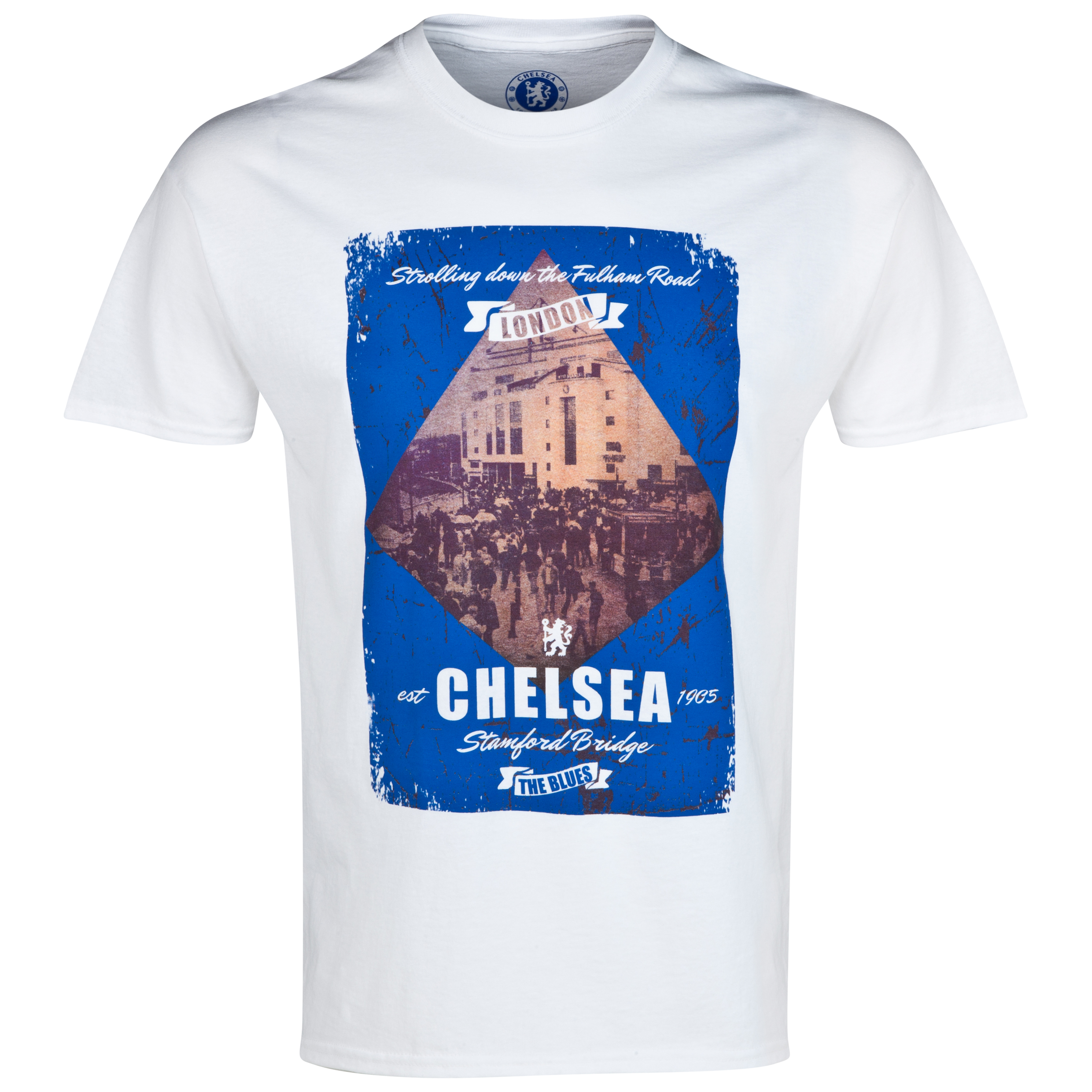 Chelsea Fulham Road T-Shirt - Mens White