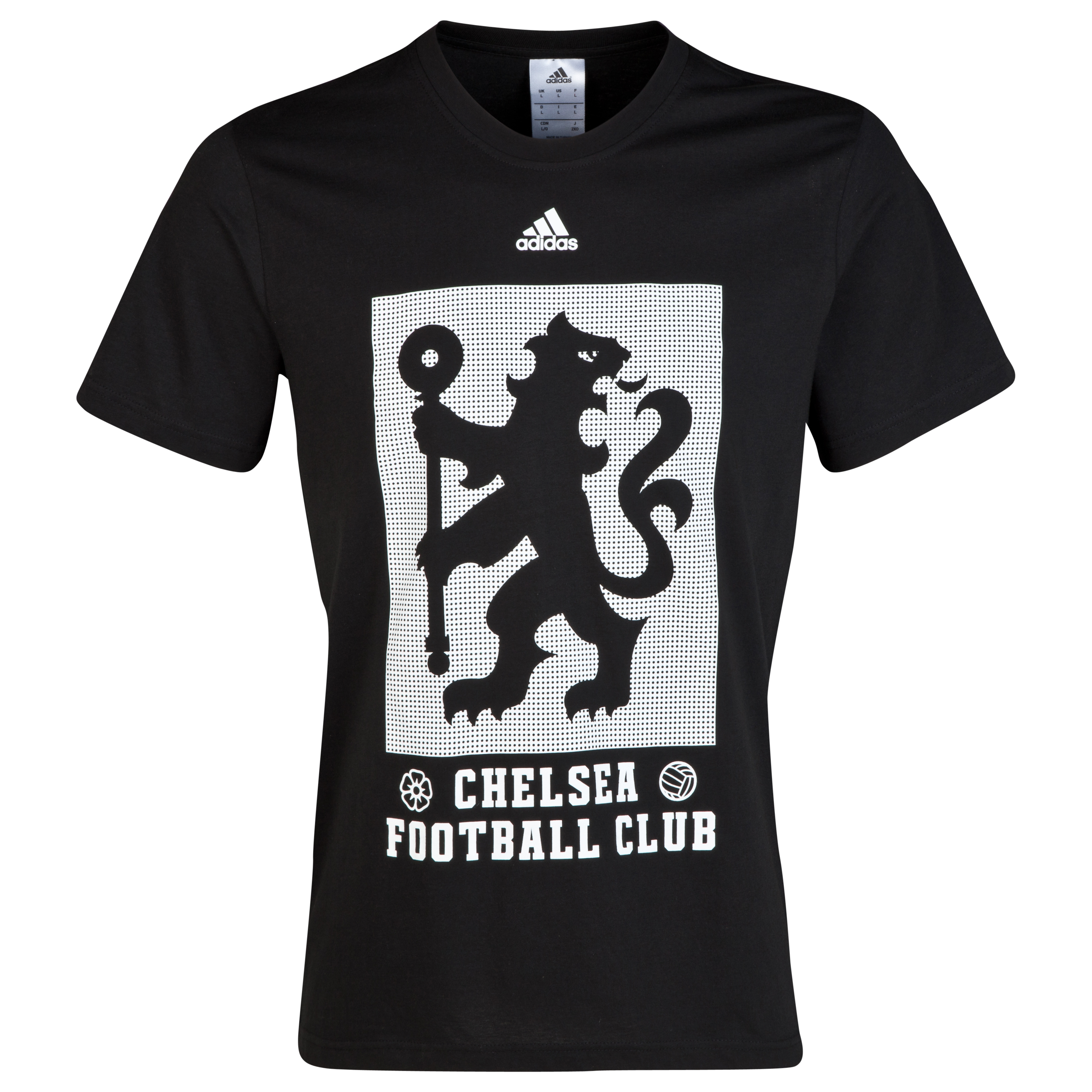 Chelsea Adidas Large Lion T-Shirt Black