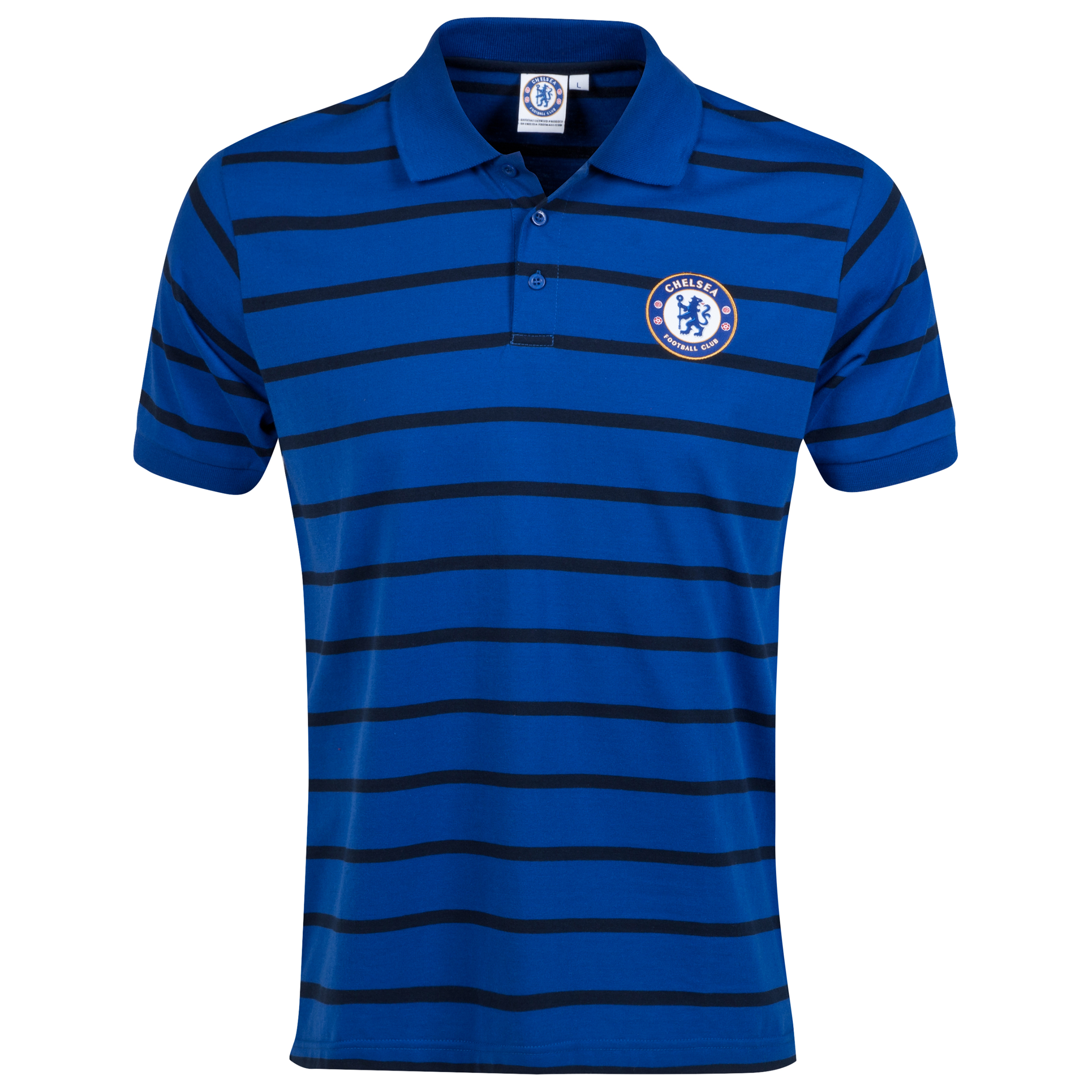 Chelsea Classic Striped Polo Shirt - Royal - Mens