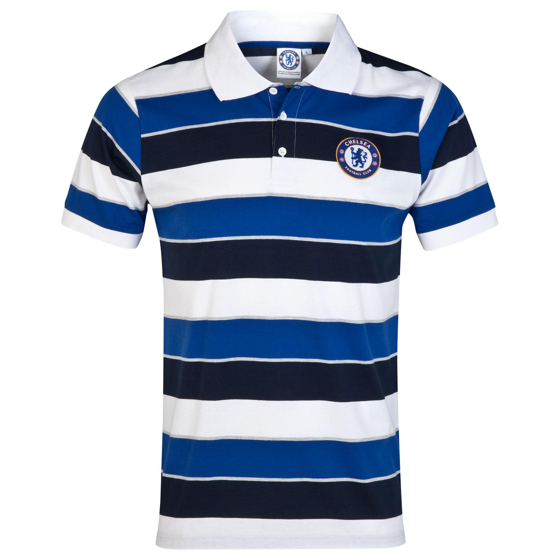 Chelsea Classic Striped Polo Shirt - White - Mens