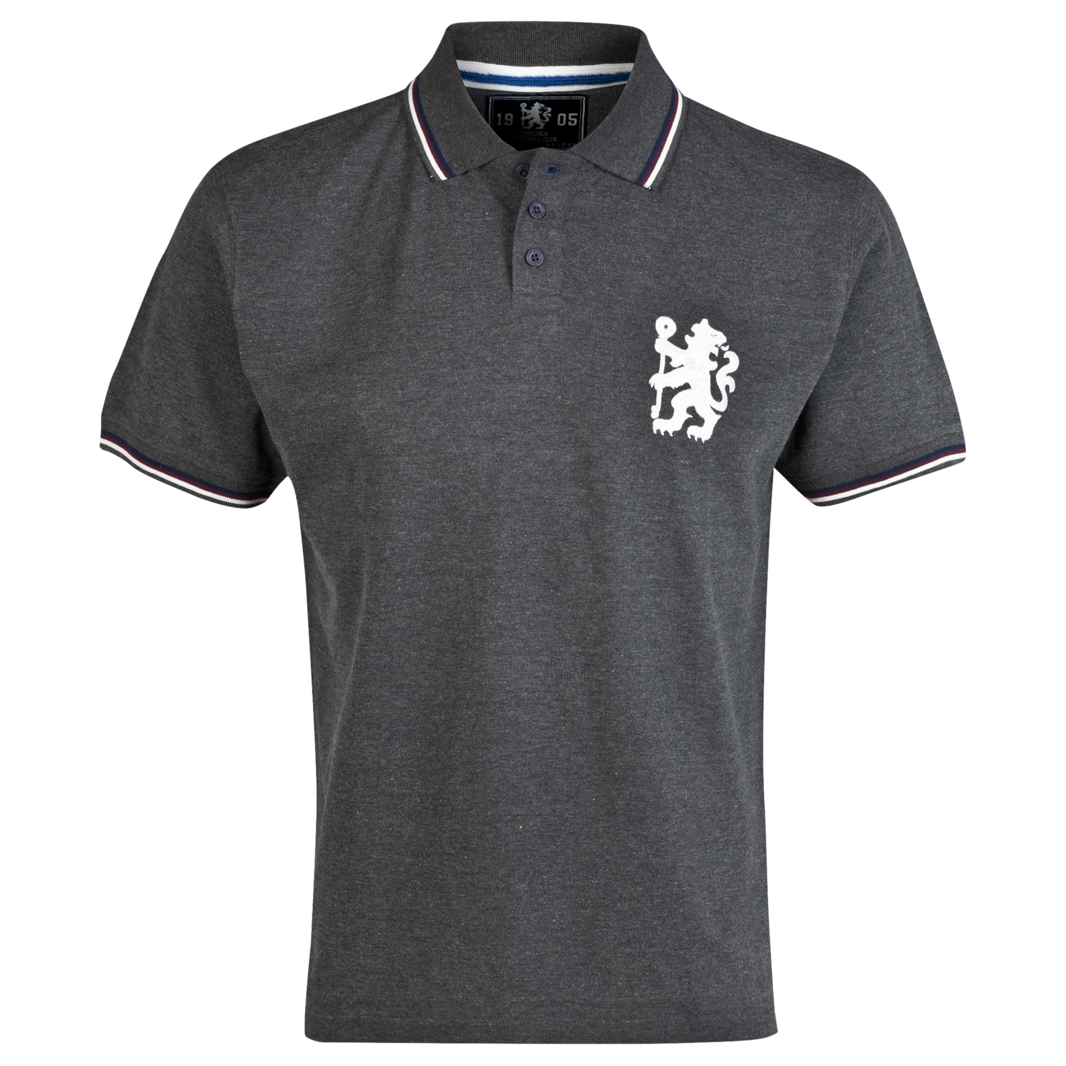 Chelsea Heritage Tipped Polo Shirt - Vintage Marl - Mens